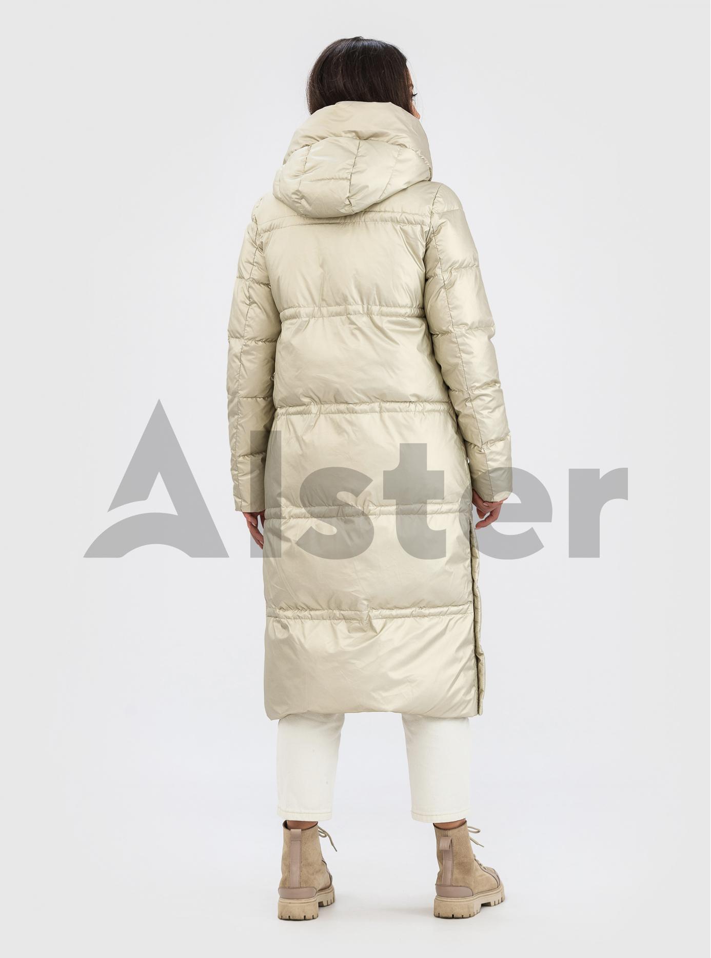 Довга жіноча куртка ZLLY Бежевий M (ZL21543-07): фото - Alster.ua