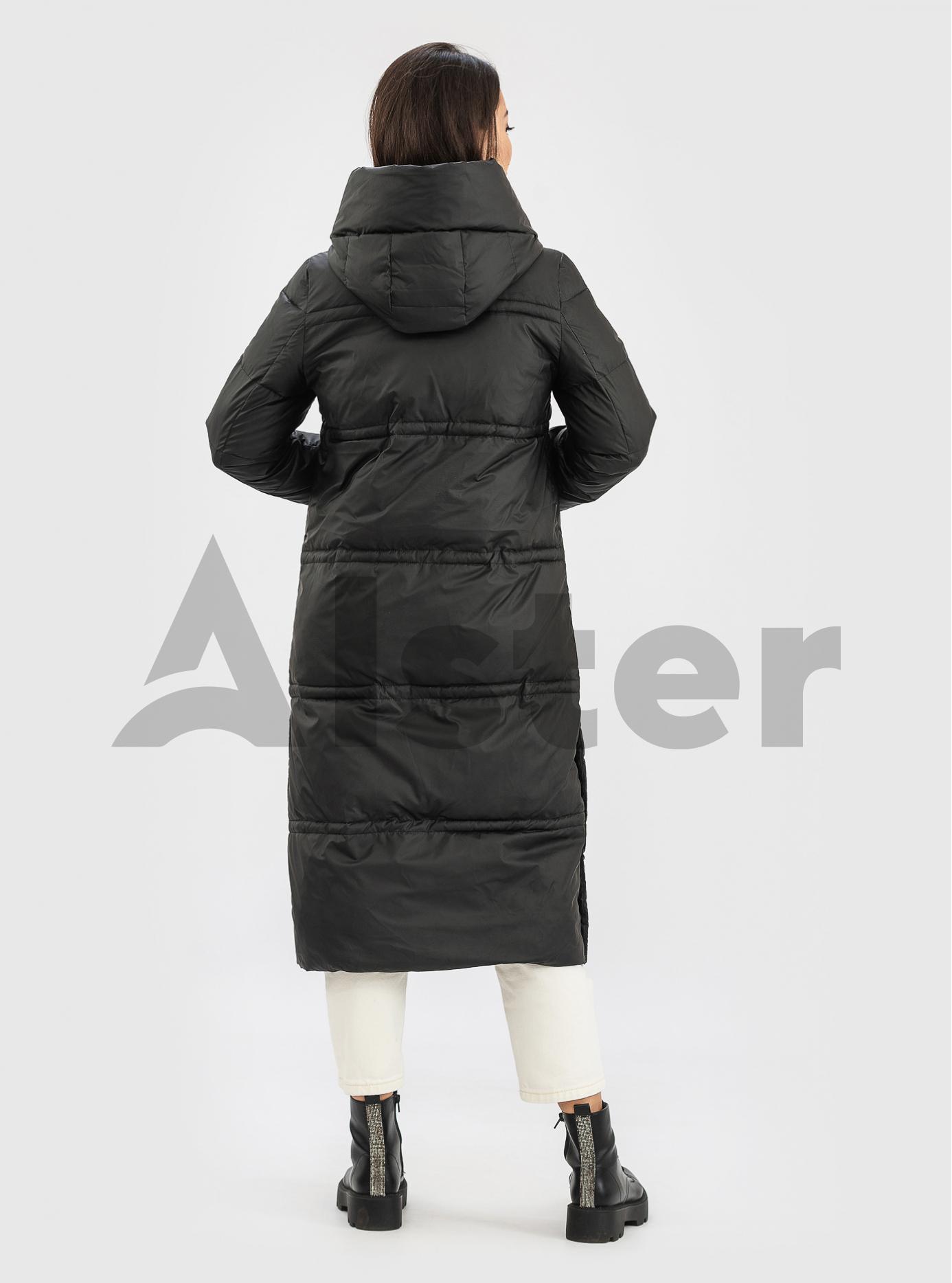 Довга жіноча куртка ZLLY Чорний L (ZL21543-03): фото - Alster.ua