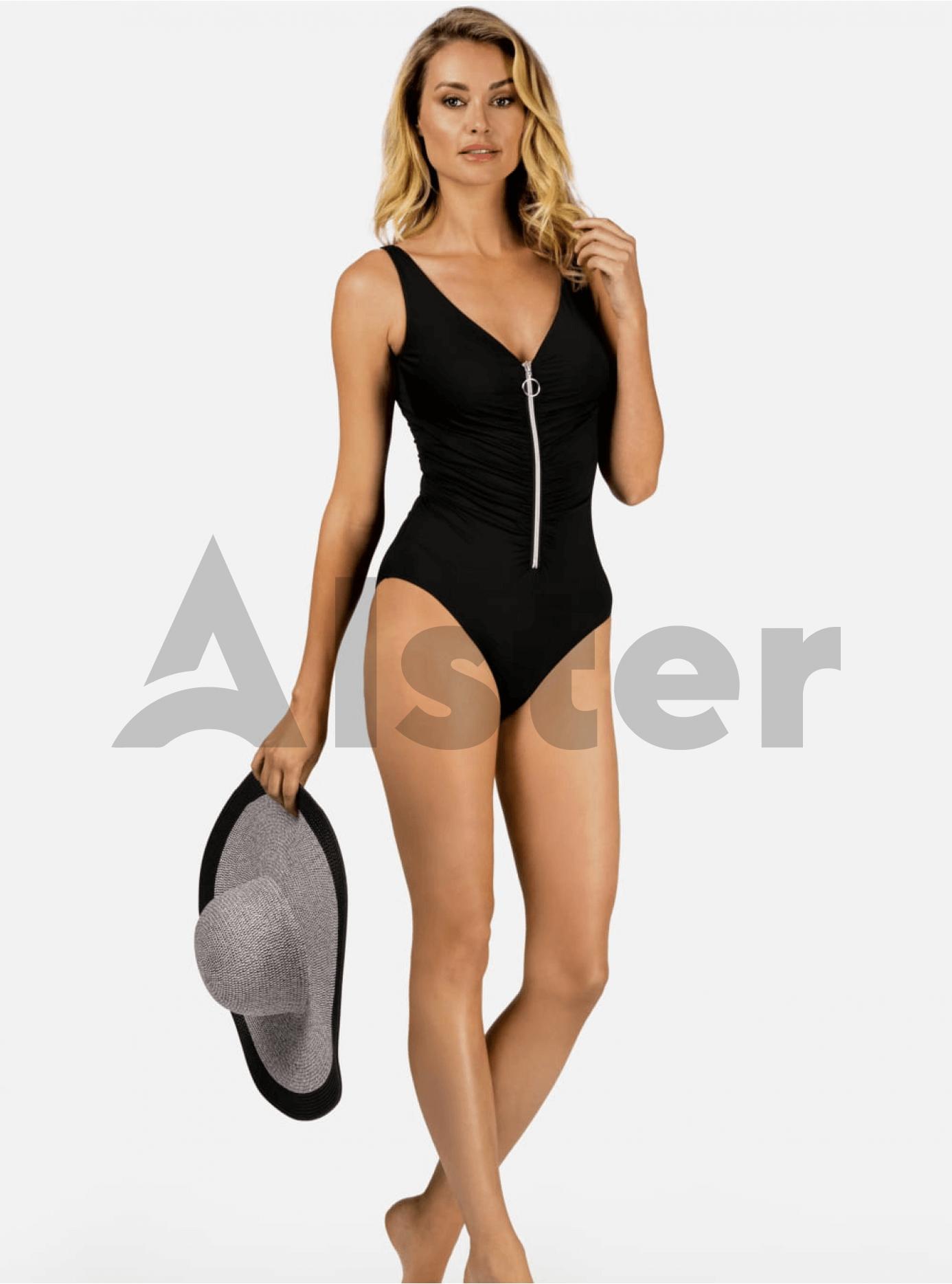 Відрядний купальник зі змійкою Чорний L (01-KF20280): фото - Alster.ua
