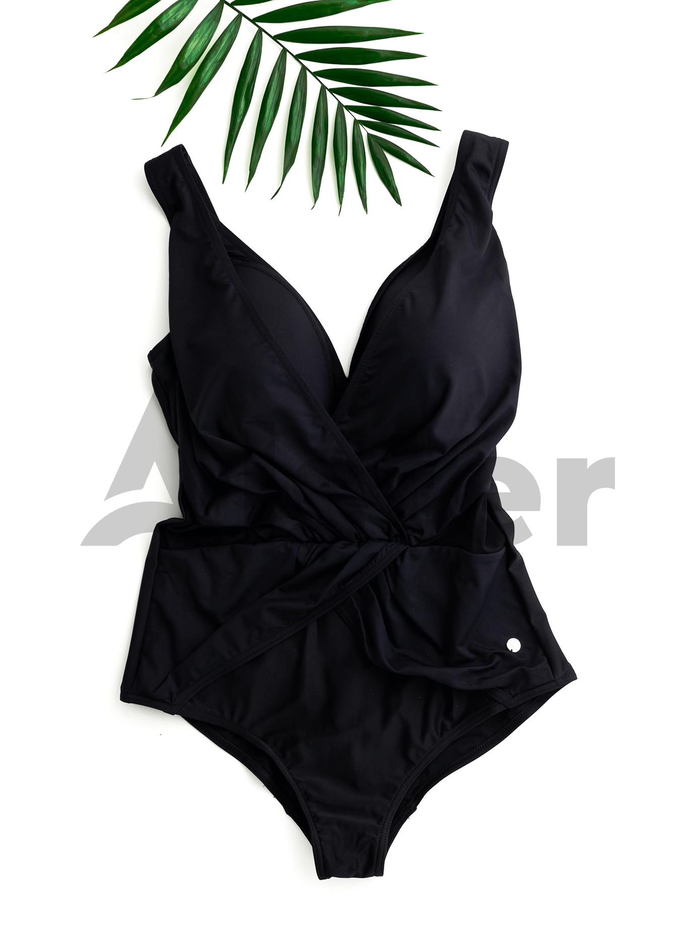 Сдельный купальник с драпировкой Чёрный 2XL (01-K190334): фото - Alster.ua