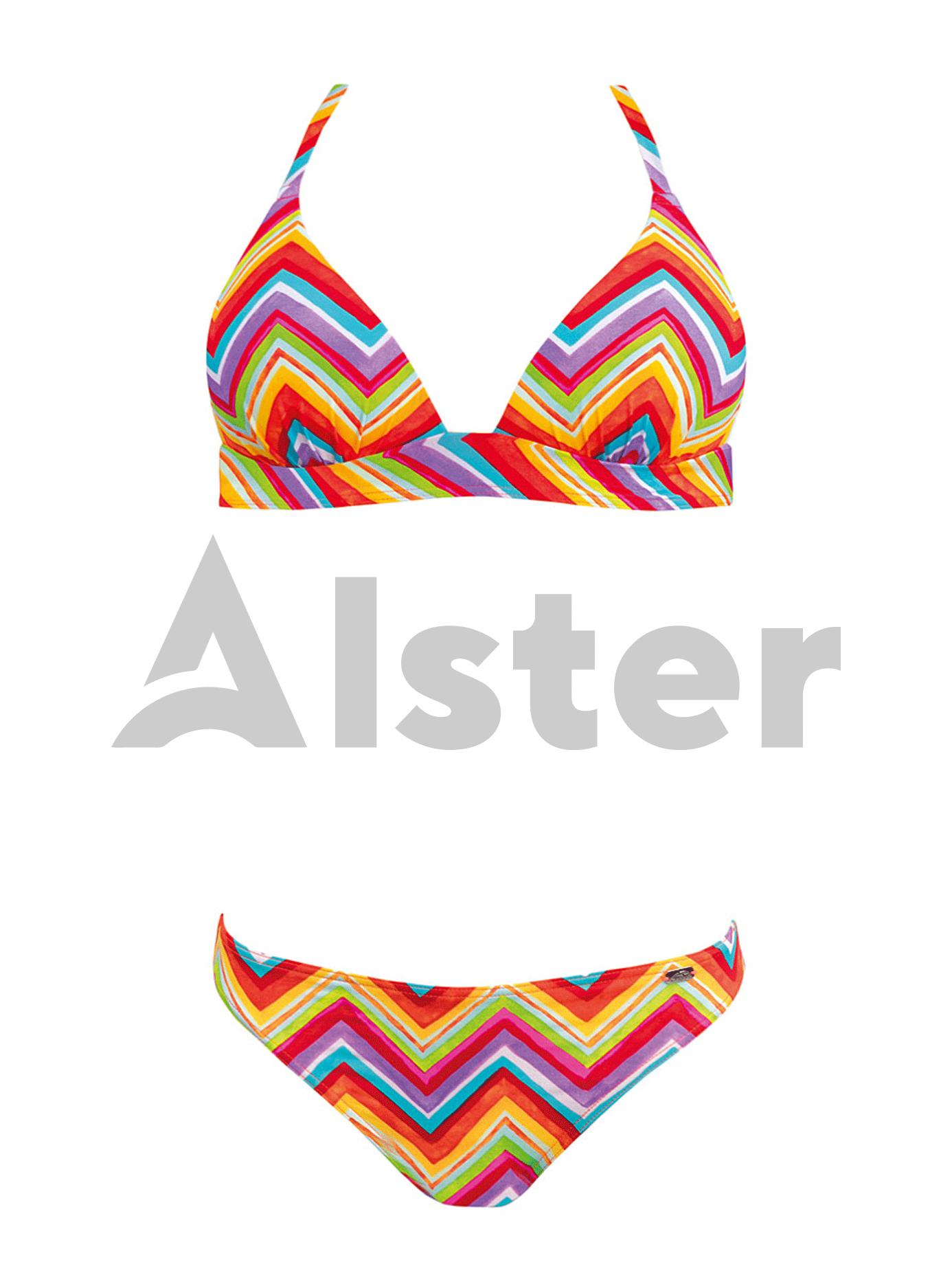 Раздельный разноцветный купальник Красный 40D (01-K190573): фото - Alster.ua