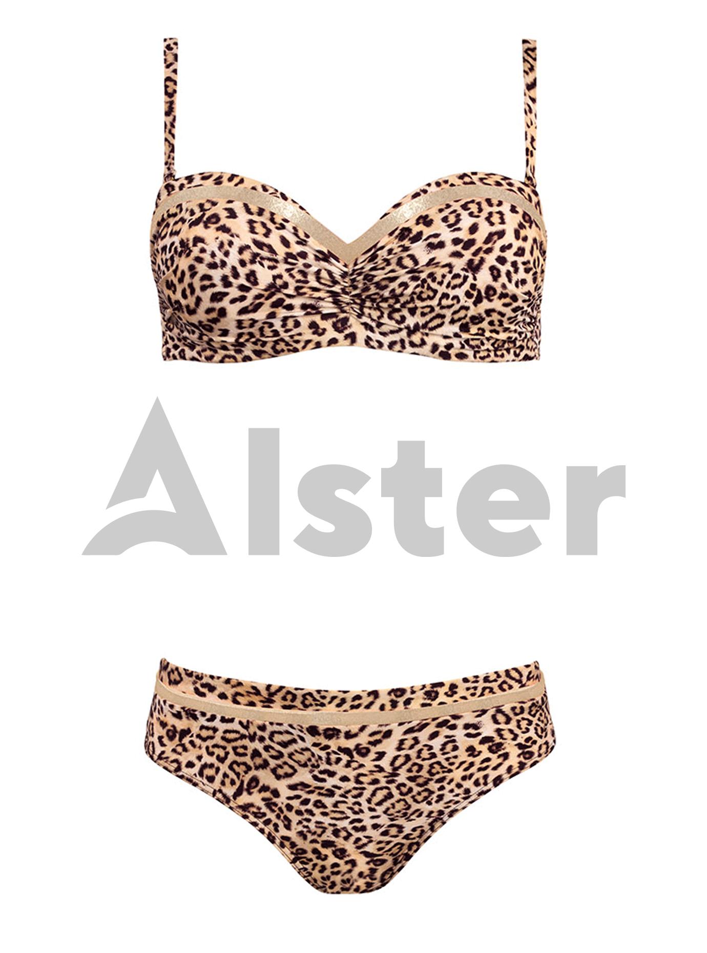 Раздельный купальник с леопардовым рисунком Золотой 44C (01-K190626): фото - Alster.ua