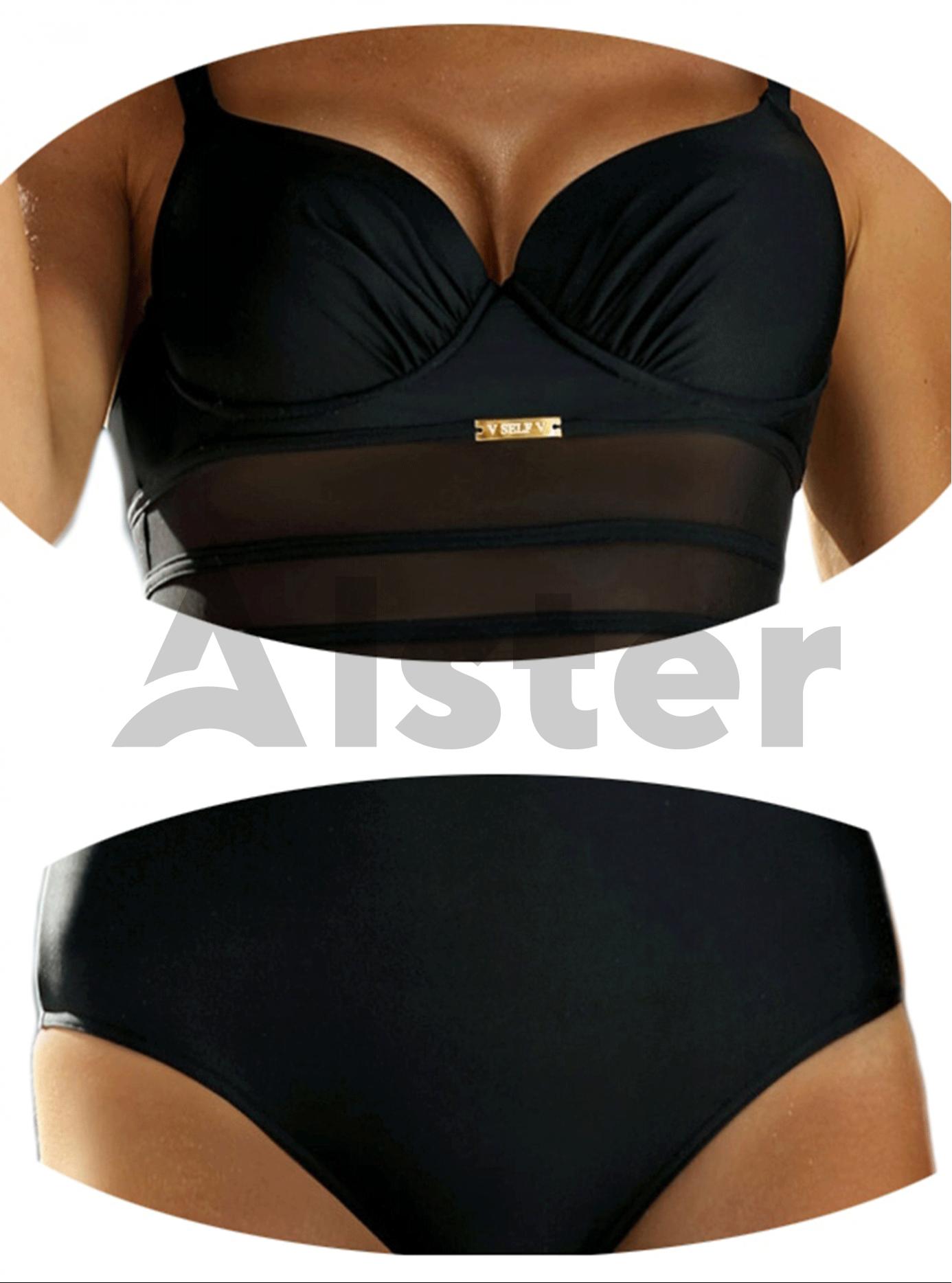 Сдельный купальник с сеточкой Чёрный 38C (01-K190177): фото - Alster.ua