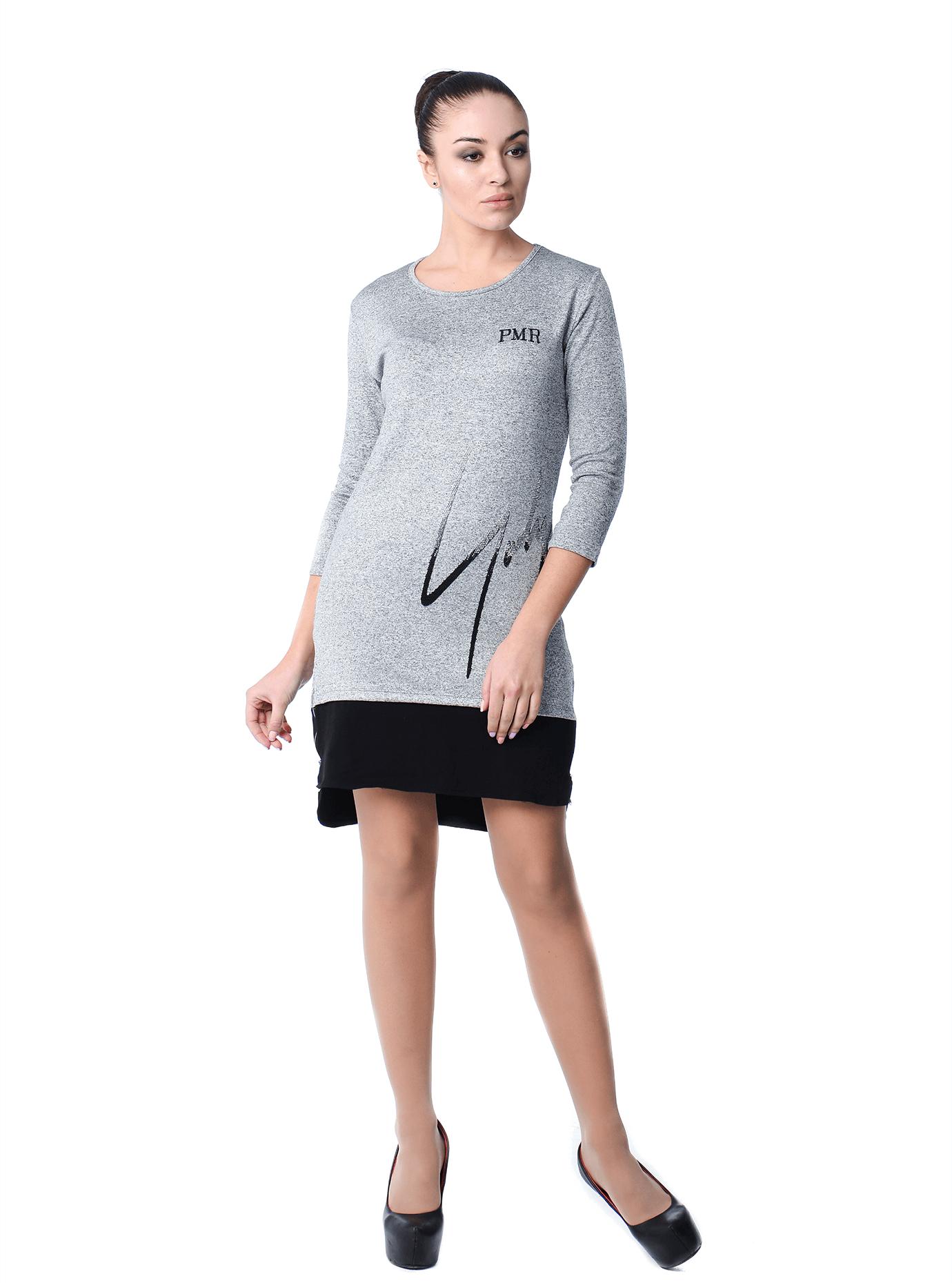 Платье Серый 42 (01-O16025): фото - Alster.ua