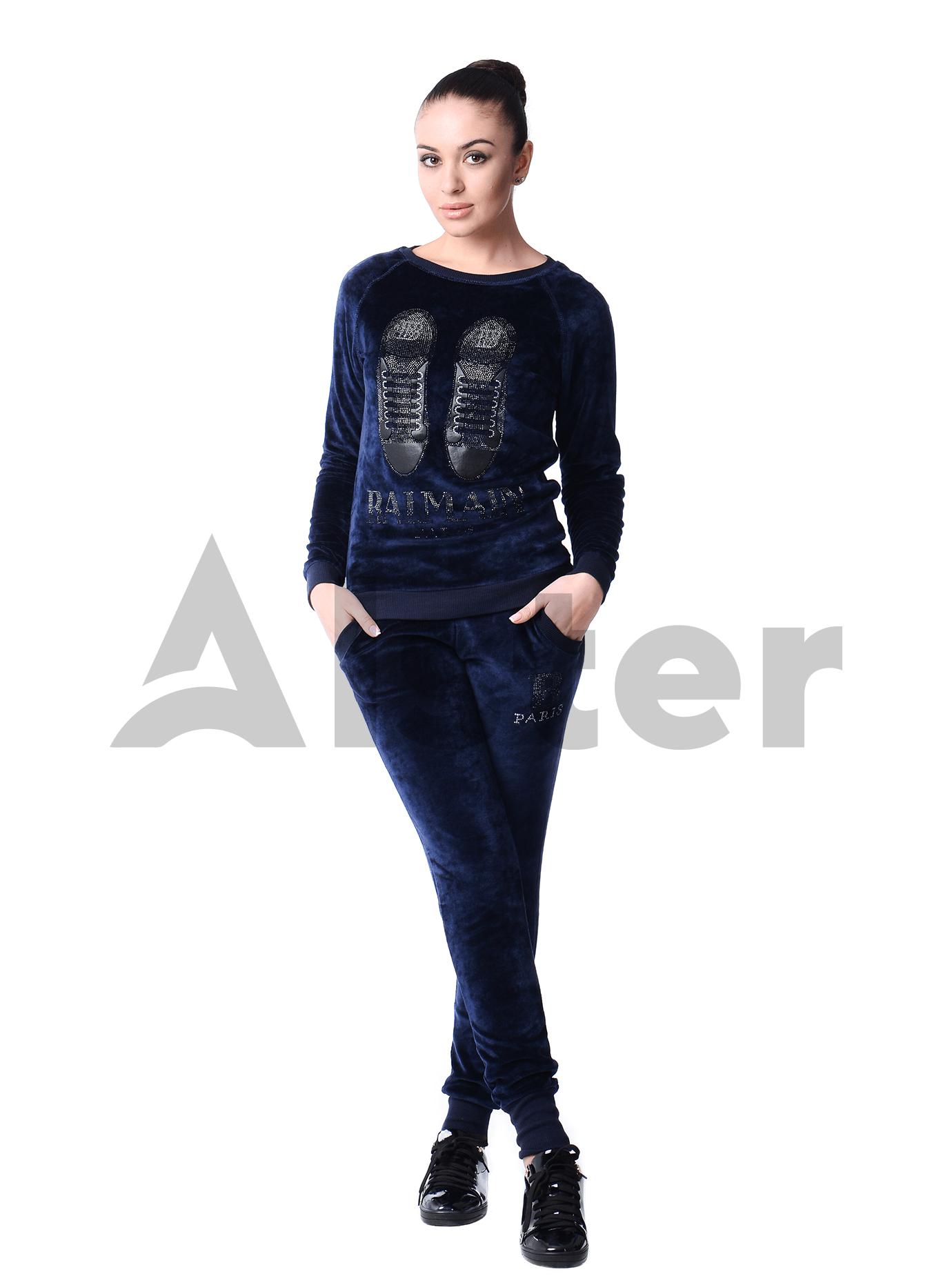 Костюм велюровый женский Серый 42 (01-O17007): фото - Alster.ua