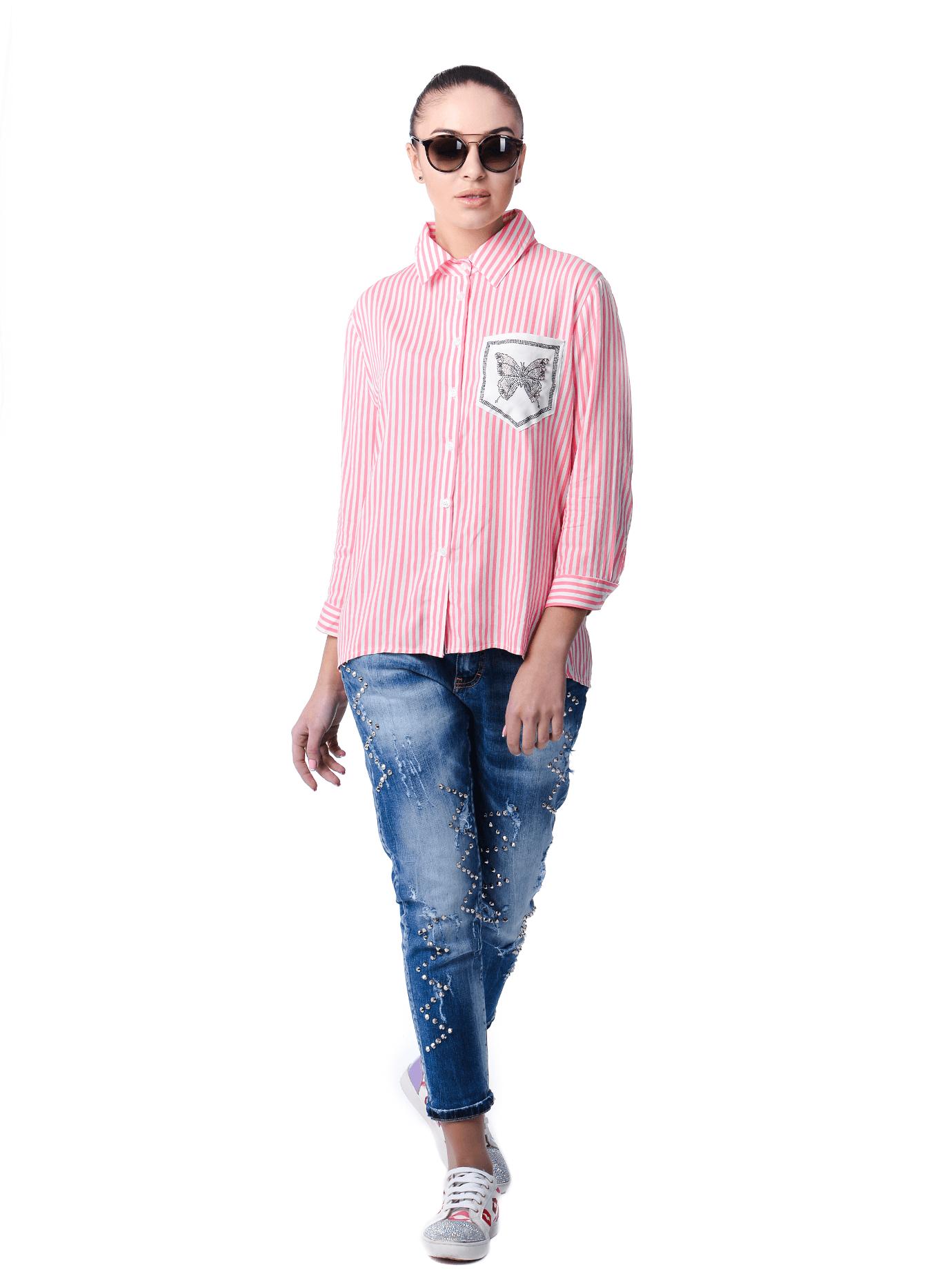 Рубашка женская Серый 42 (01-O17016): фото - Alster.ua