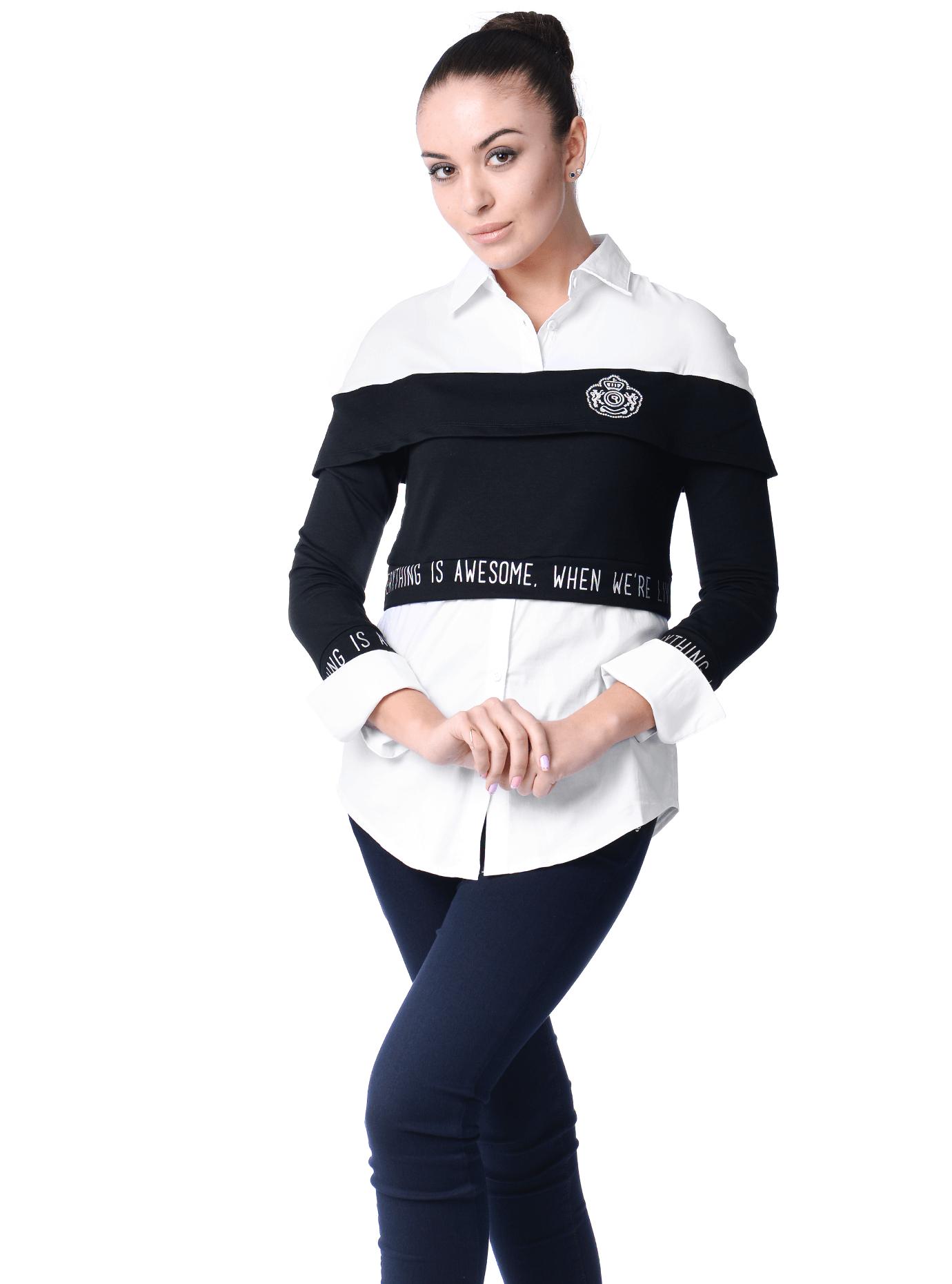 Рубашка женская Серый 42 (01-O17022): фото - Alster.ua