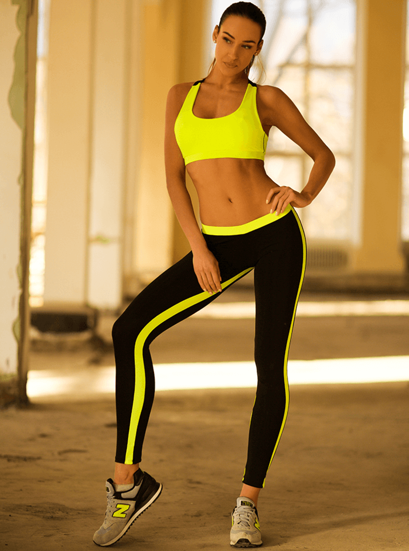 Комплект женский Basic Lemon Leggings Серый S (01-F171102): фото - Alster.ua