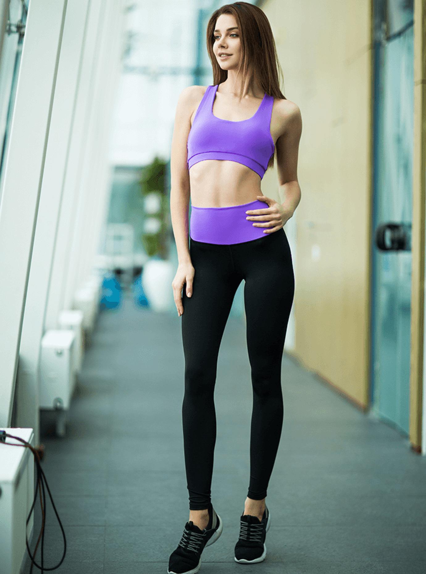 Комплект женский High Waist Lavender Leggings Серый S (01-F171126): фото - Alster.ua