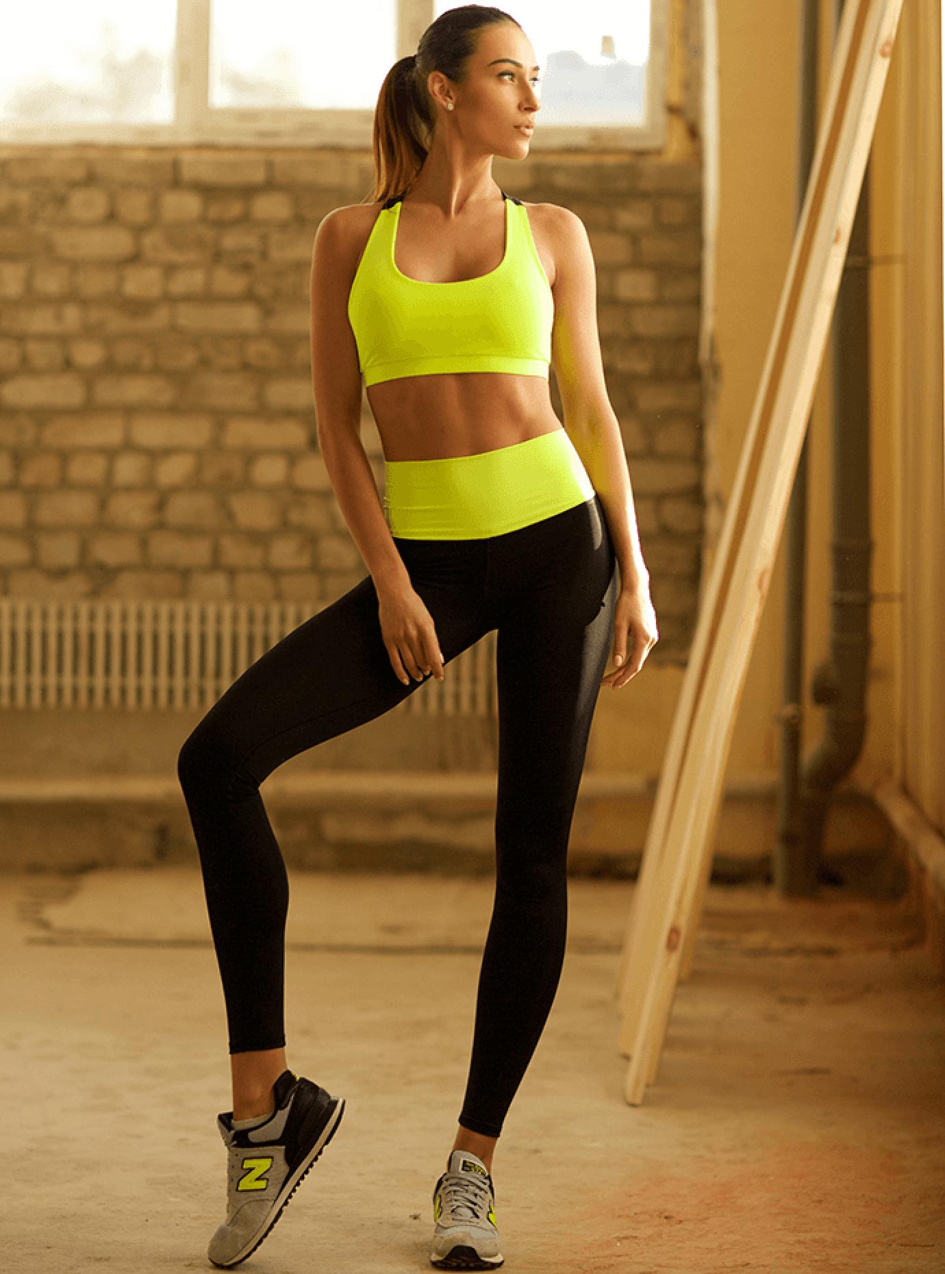 Комплект женский High Waist Lemon Leggings Серый S (01-F171127): фото - Alster.ua