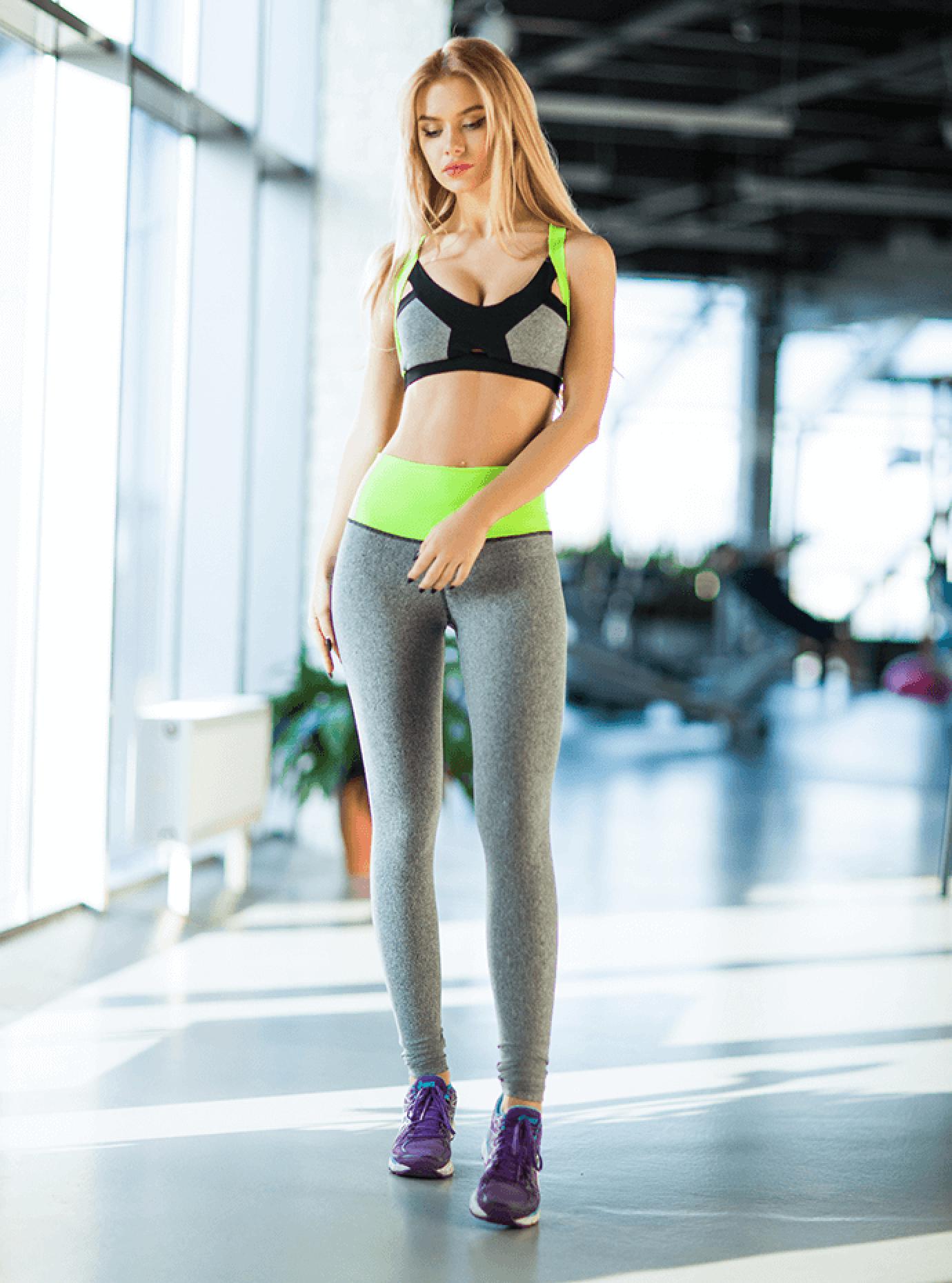 Комплект женский Pro Jersey Green Серый S (01-F171134): фото - Alster.ua