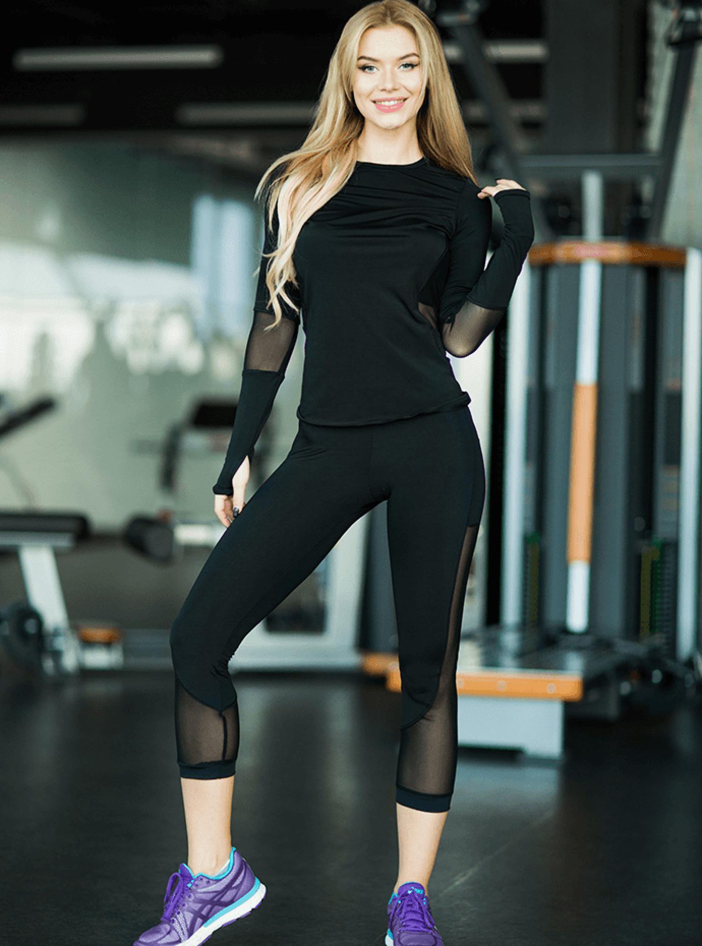 Рашгард женский Basic Black Серый S (01-F171009): фото - Alster.ua
