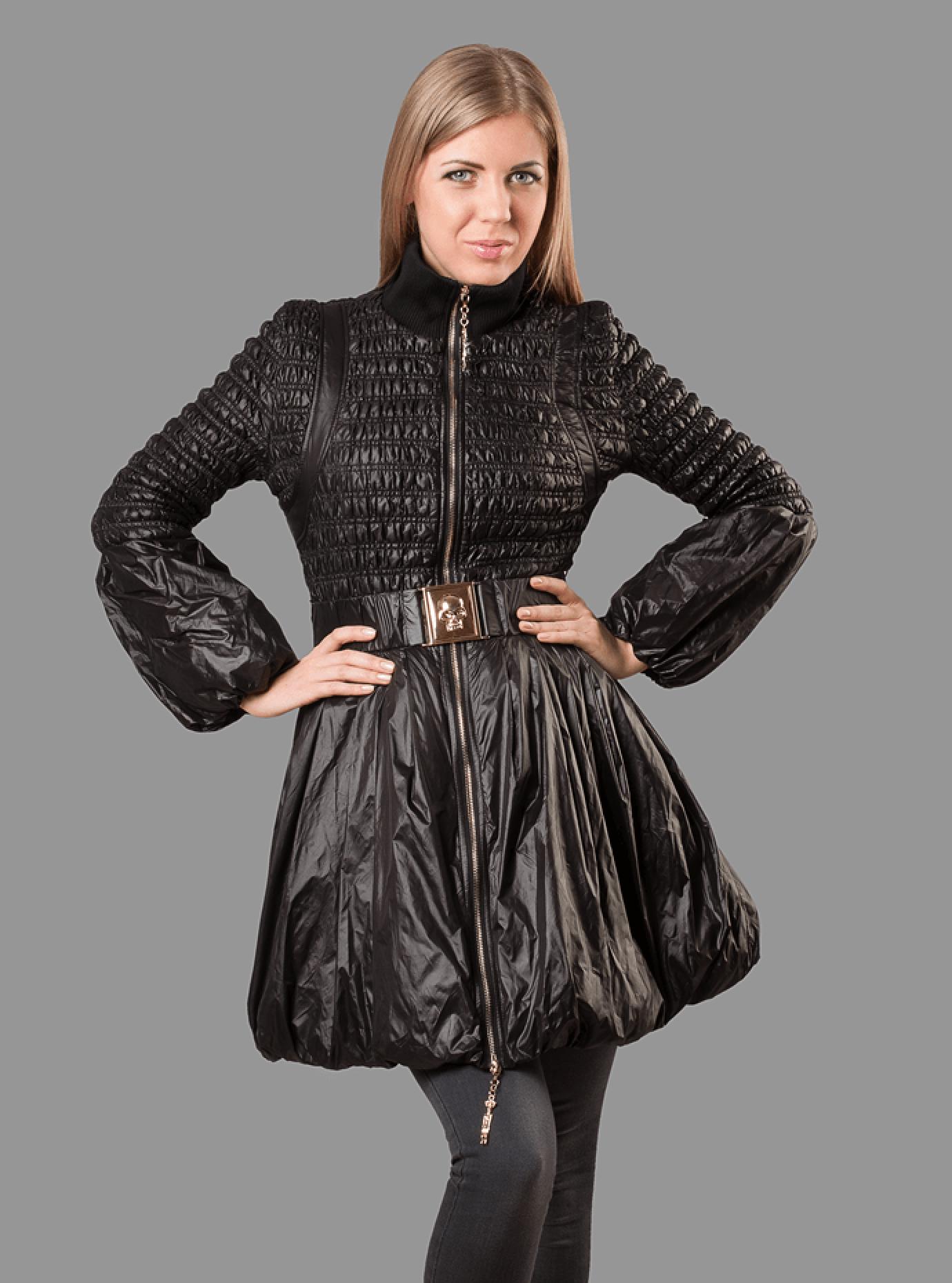 Куртка женская демисезонная оригинальная стёганная Чёрный S (05-ZZ19136): фото - Alster.ua