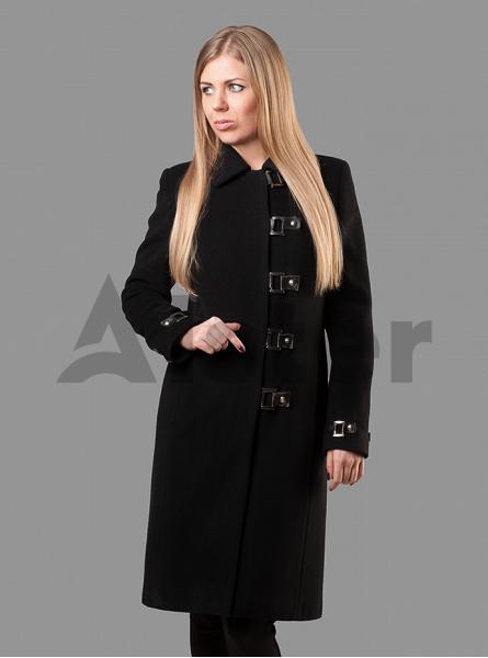 Пальто демисезонное длинное приталенное