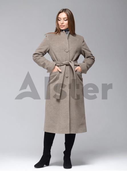 Пальто демисезонное длинное с поясом