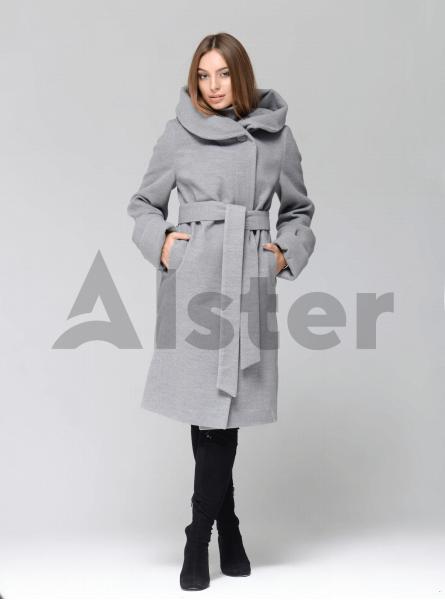 Пальто демисезонное длинное с капюшоном