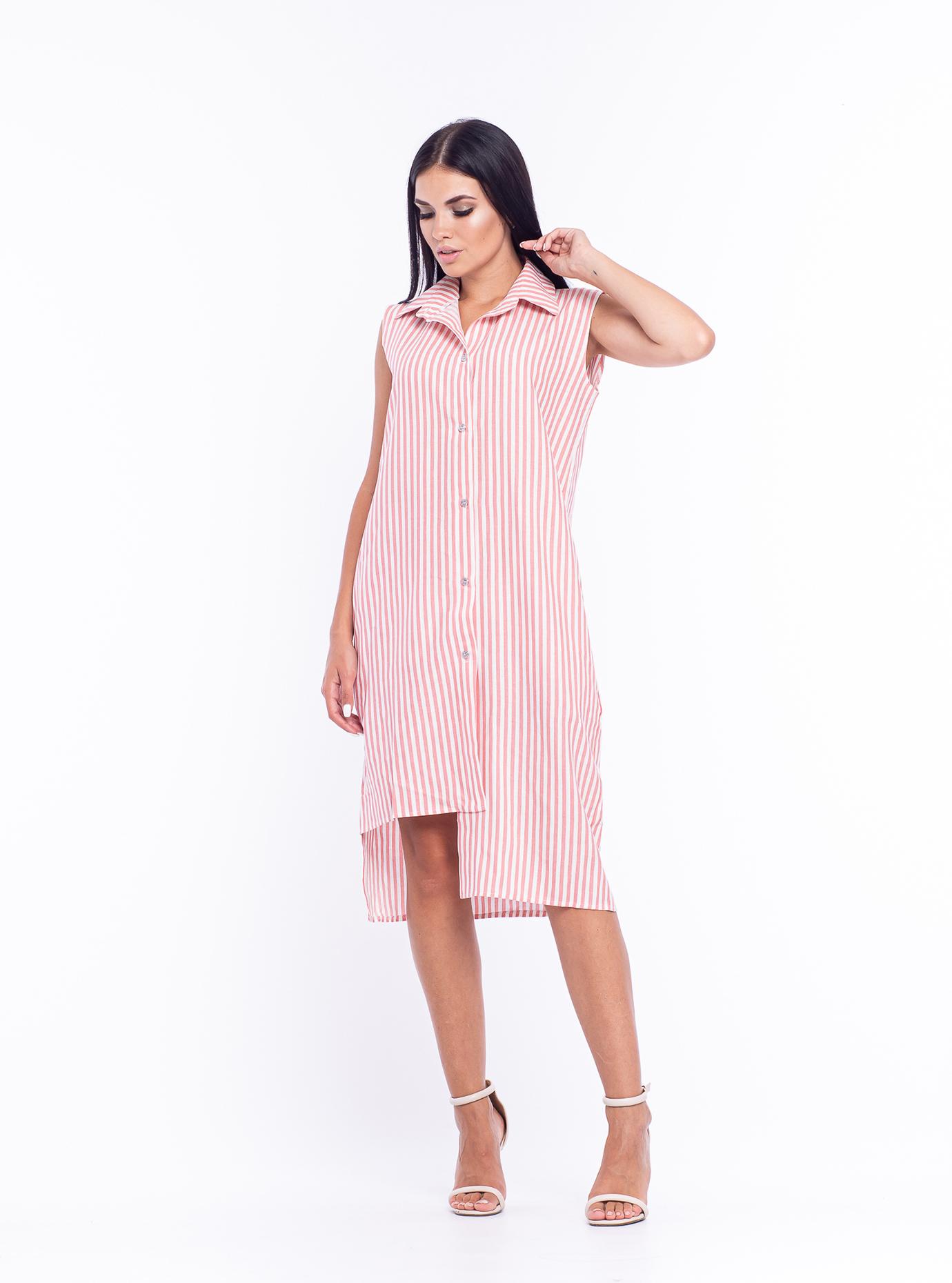 """Платье-рубашка """"Кри"""" Розовый S (04-8987995): фото - Alster.ua"""