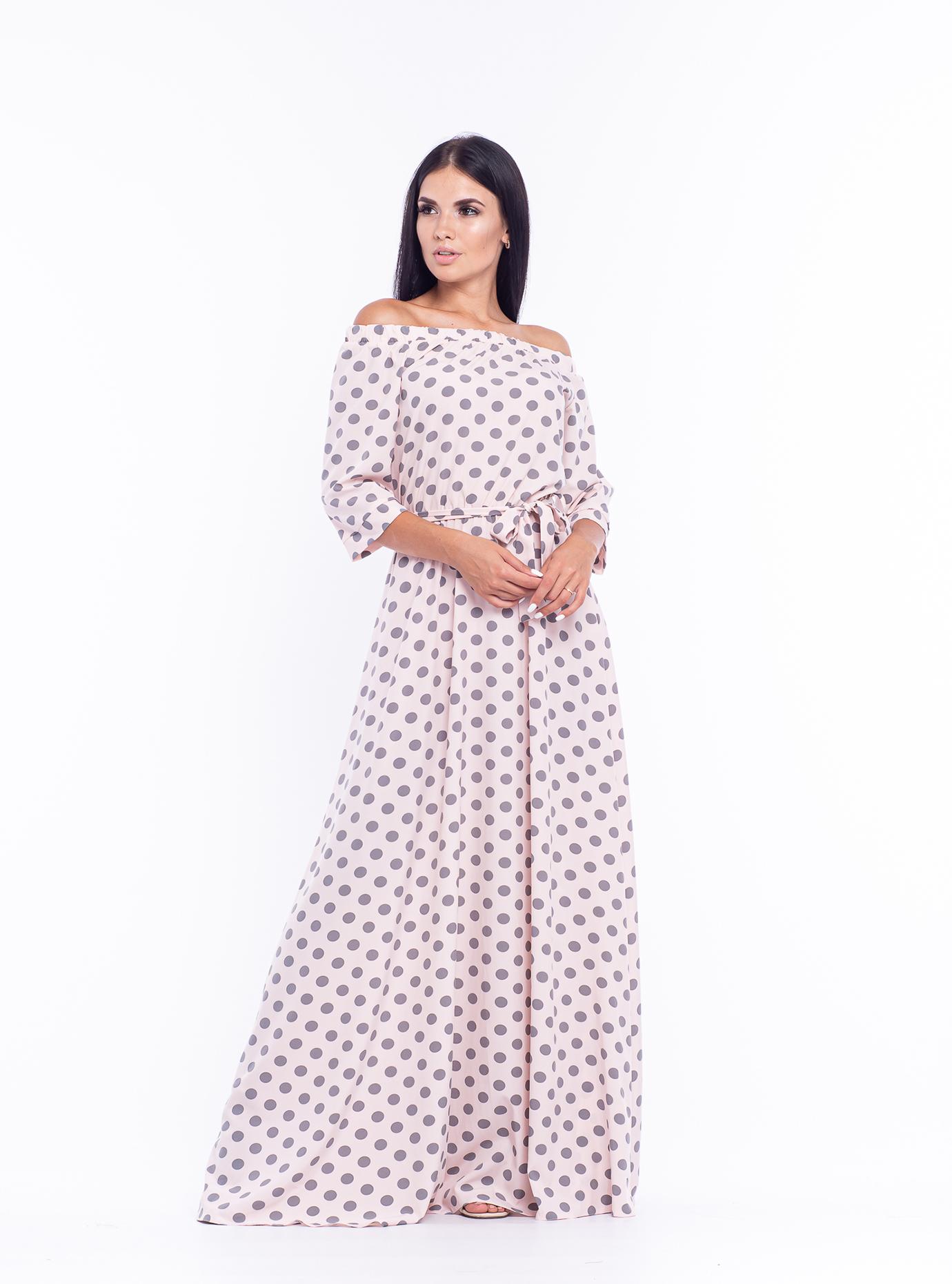 Платье длинное Матрена Светло розовый 42 (04-8987989): фото - Alster.ua