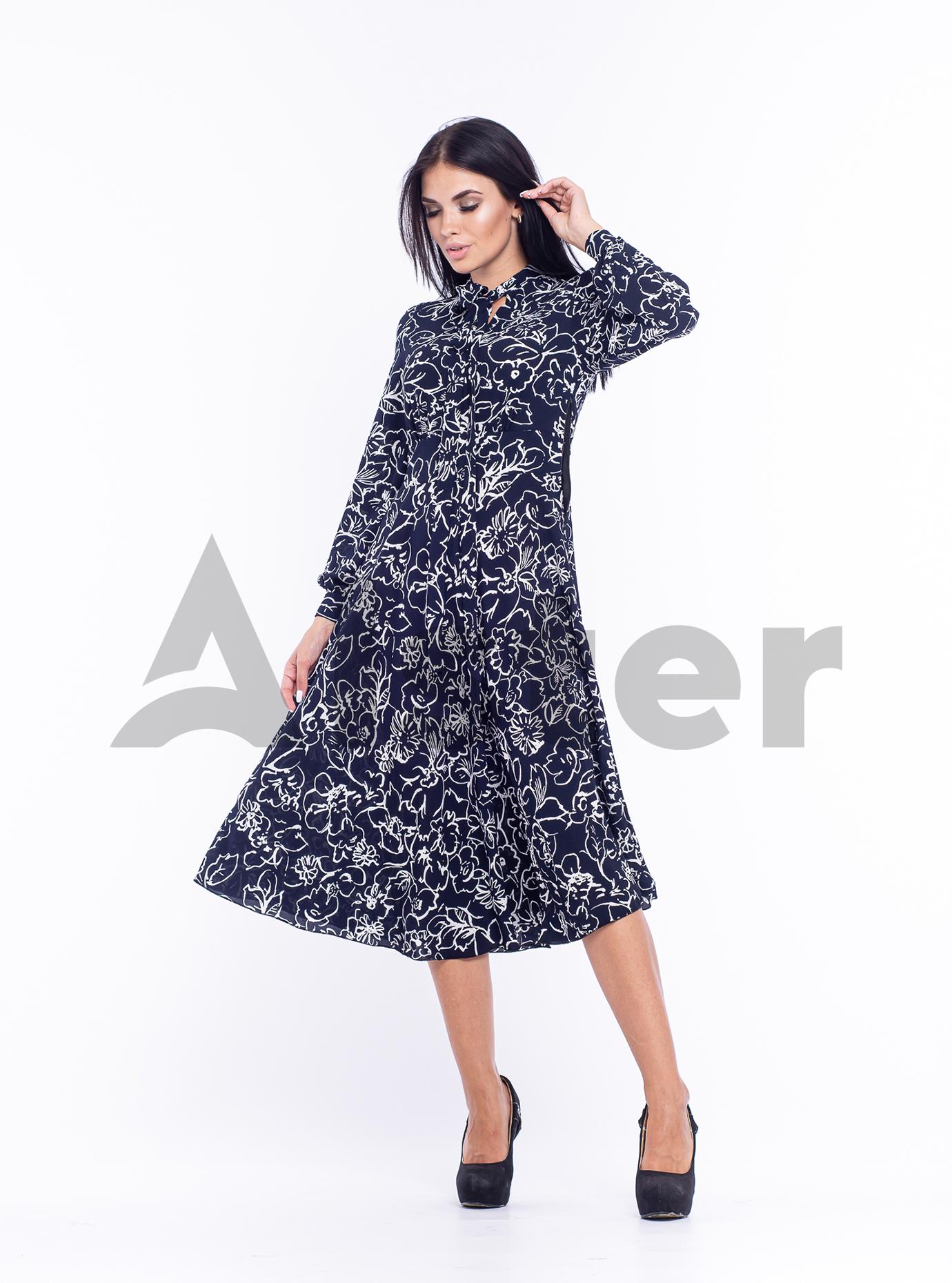 Платье приталенное Тёмно синий 48 (04-8987983): фото - Alster.ua