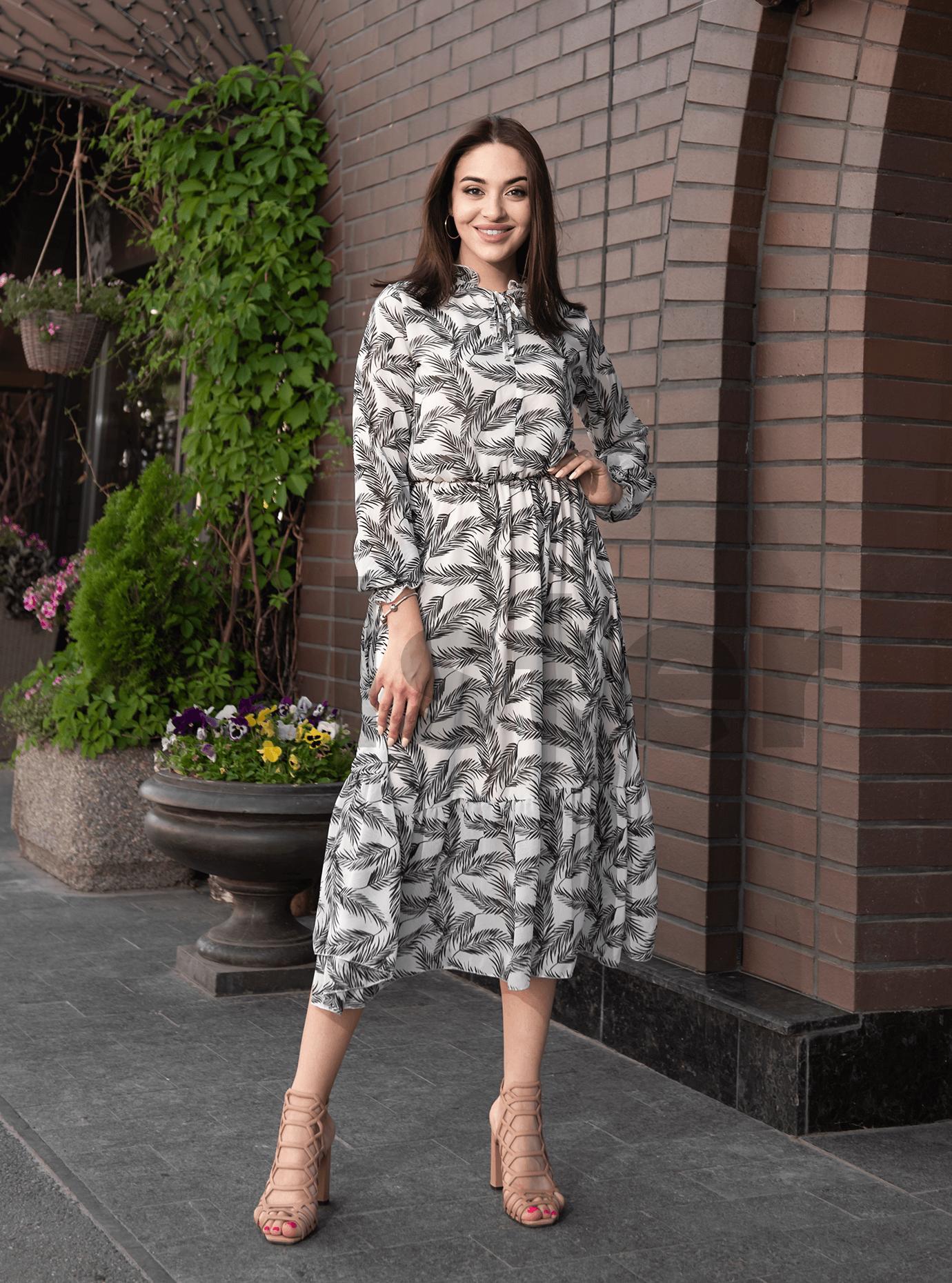 Платье Shifon long Серый S (04-8987899): фото - Alster.ua