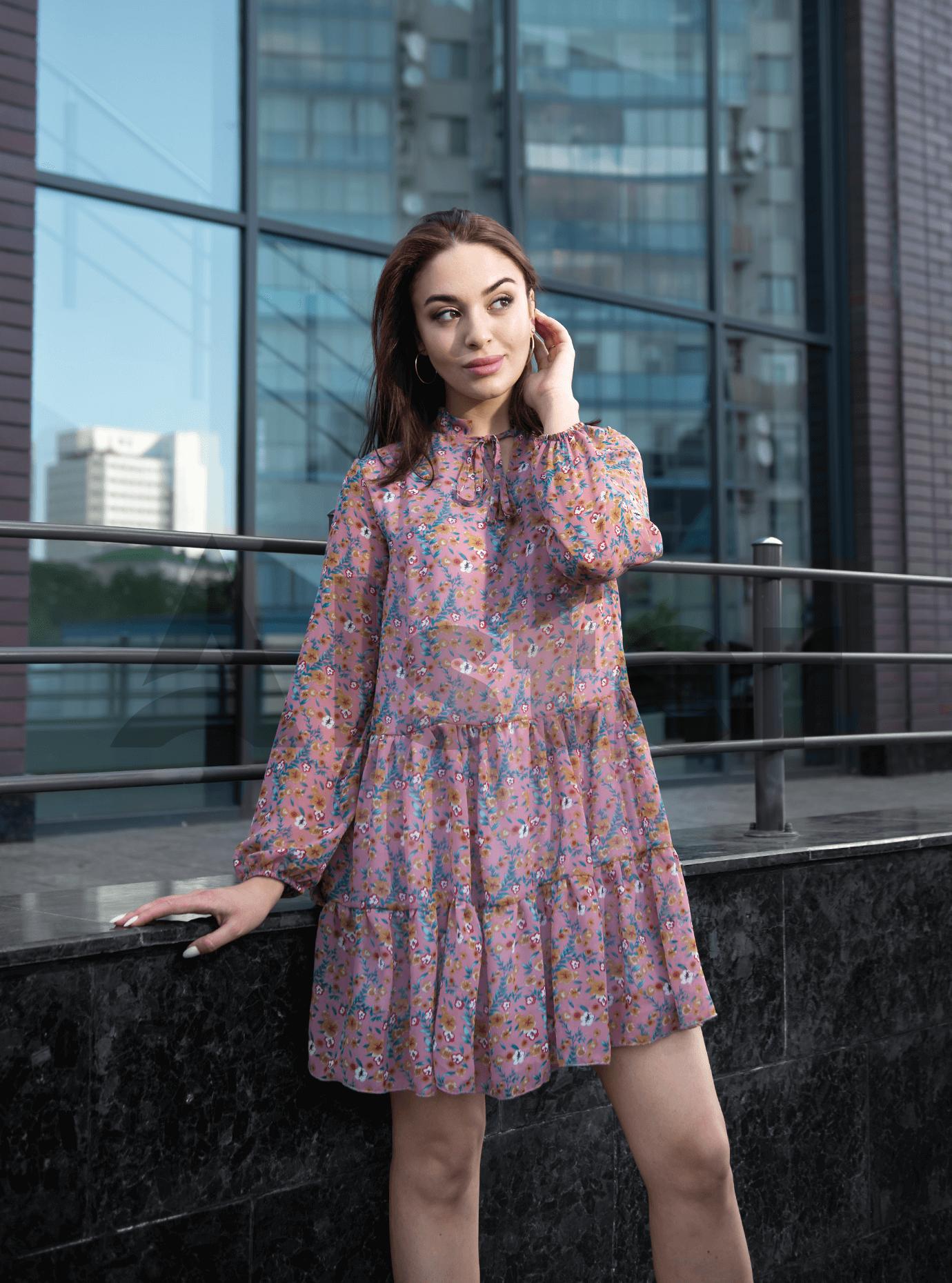 Платье Shifon short Розовый M (04-8987912): фото - Alster.ua