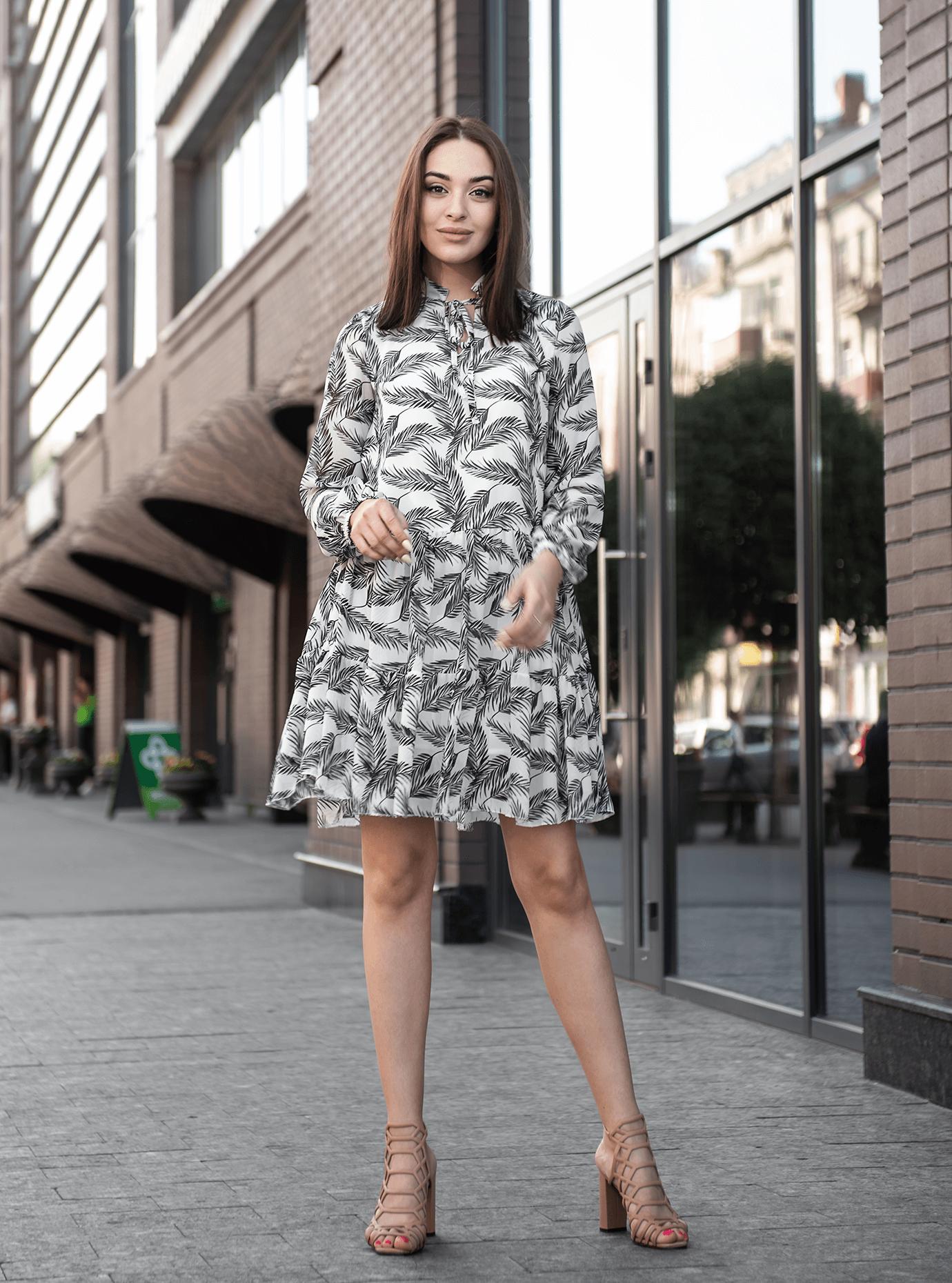 Платье Shifon short Серый S (04-8987907): фото - Alster.ua