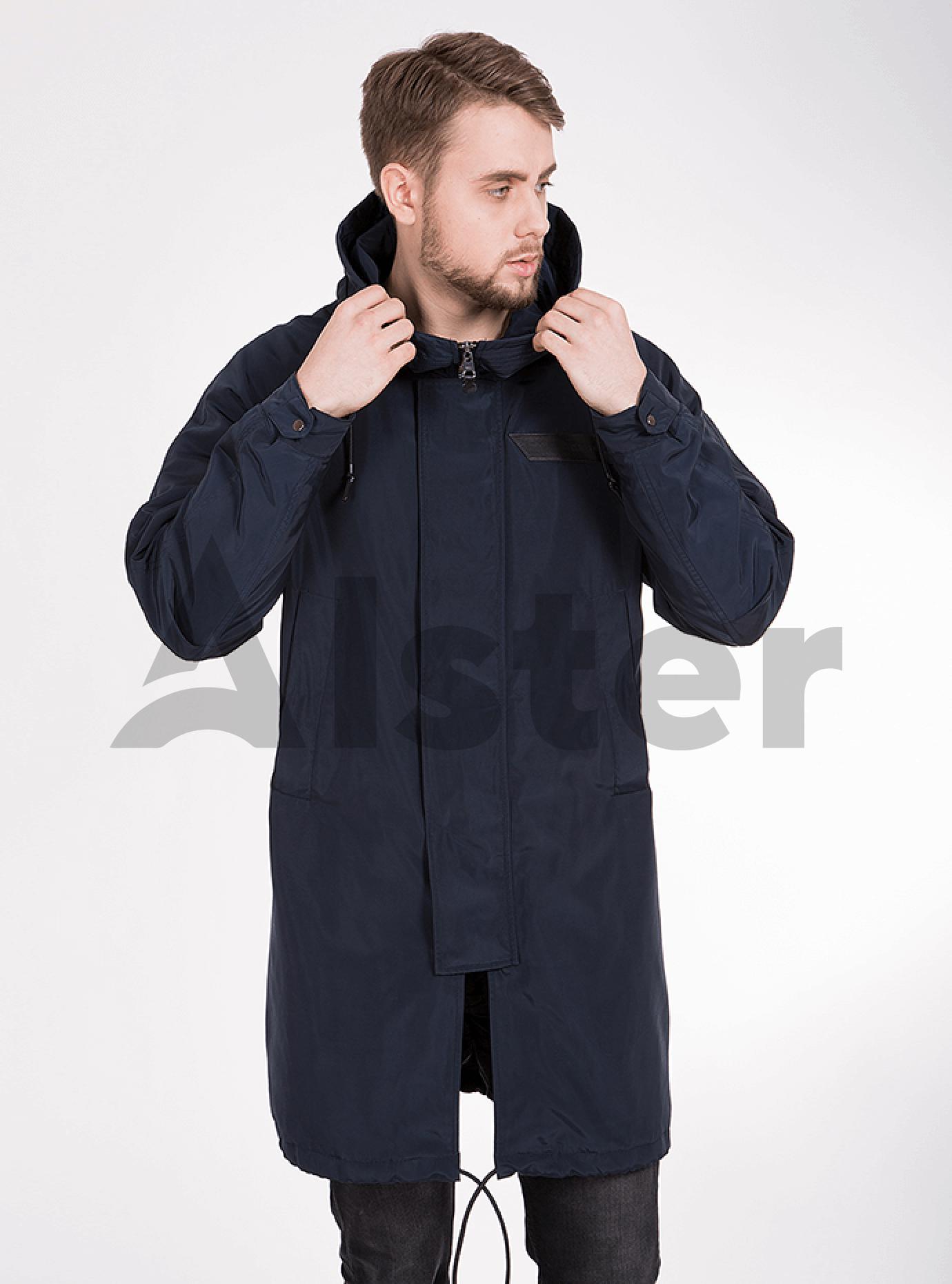 Куртка мужская демисезонная капюшон со змейкой Синий 46 (02-MC18033): фото - Alster.ua
