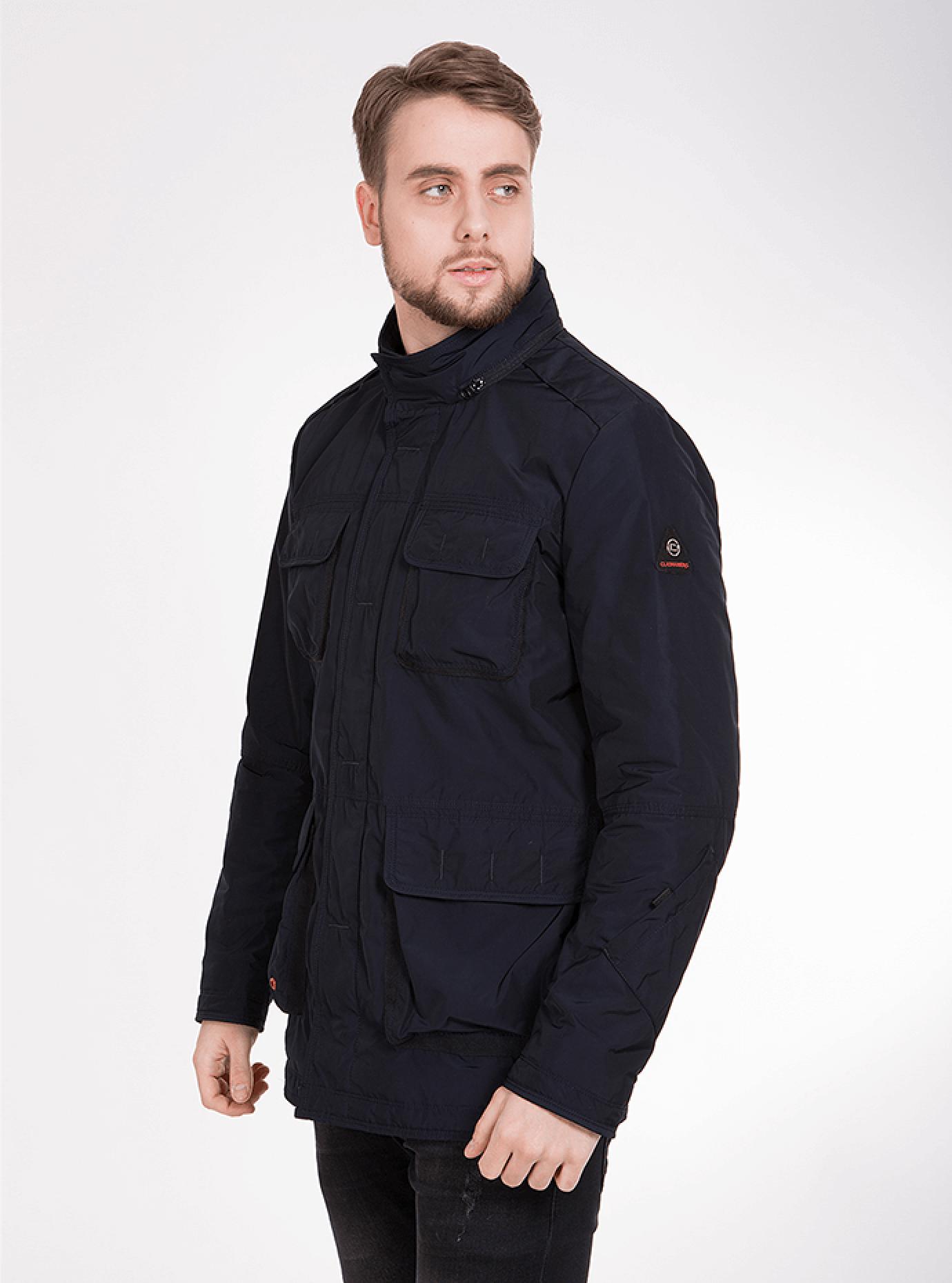 Куртка мужская демисезонная с нагрудными карманами Синий 46 (02-MC18038): фото - Alster.ua