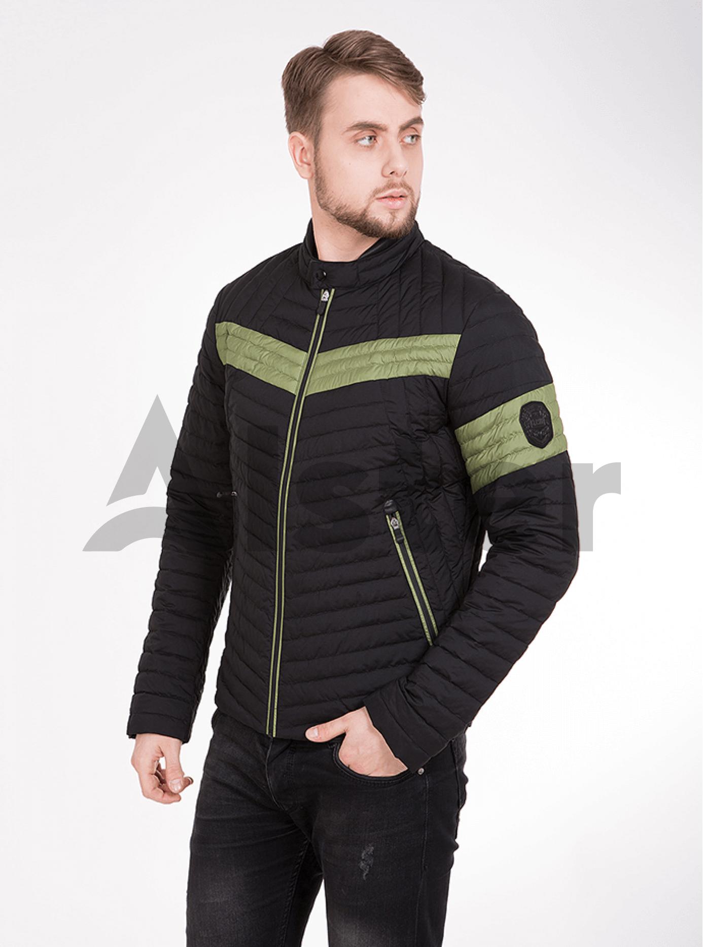 Куртка мужская демисезонная цветные вставки Чёрный 46 (02-MC18053): фото - Alster.ua