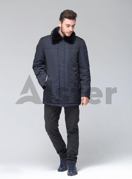 Мужская куртка зимняя шерстяная с мехом норки