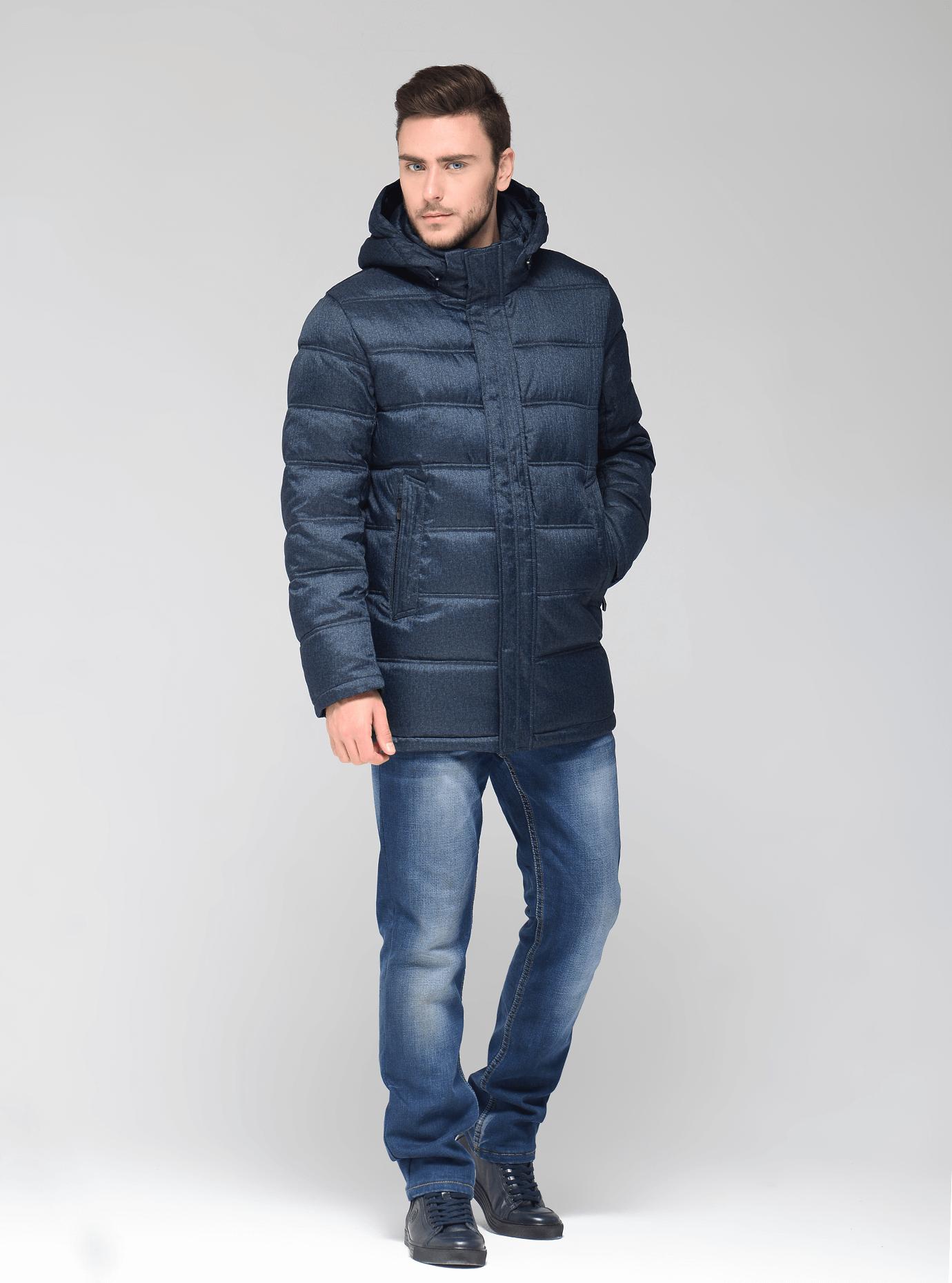 Куртка мужская зимняя с капюшоном Синий 46 (02-MR19065): фото - Alster.ua