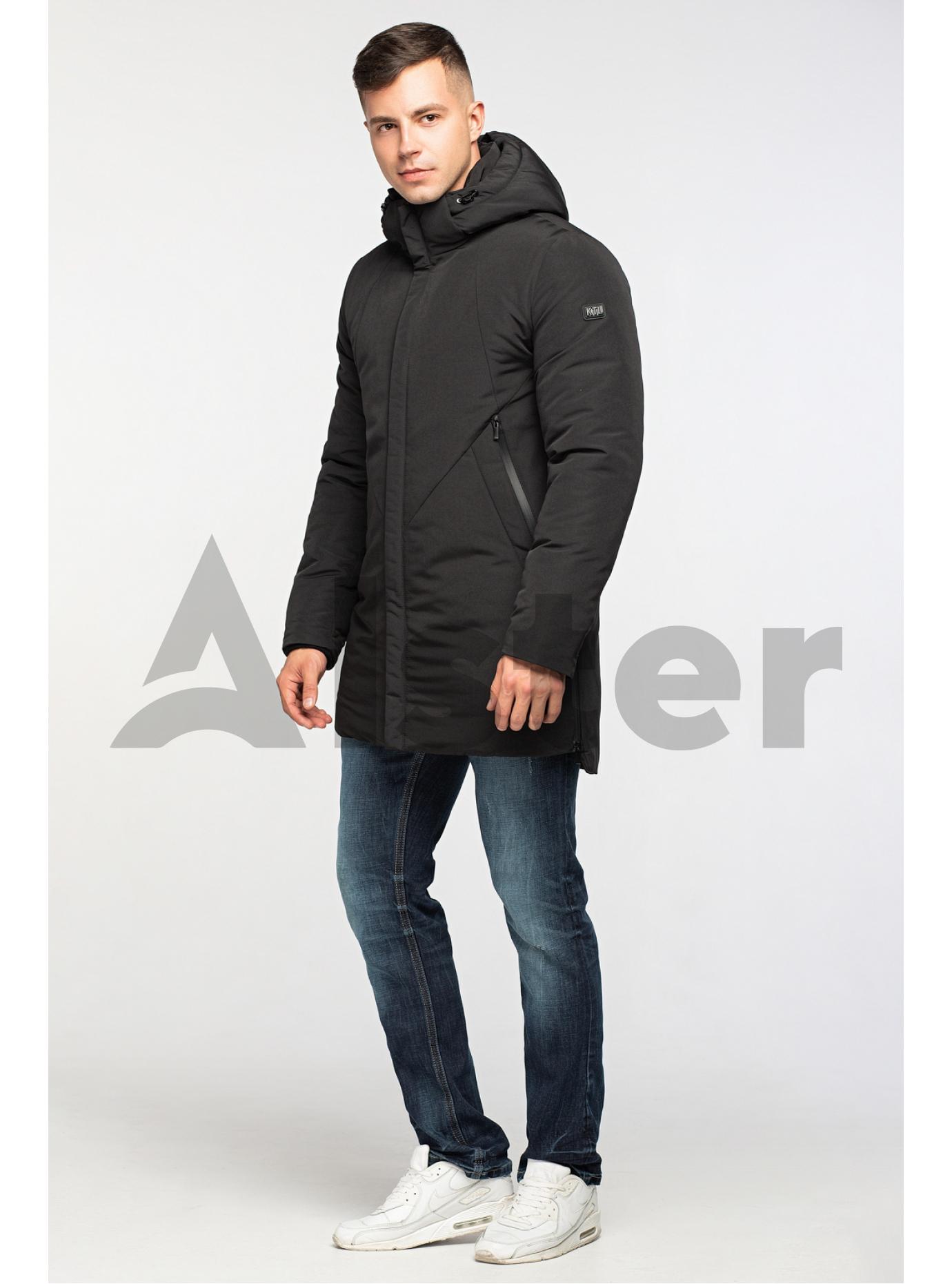 Стильна чоловіча зимова куртка Чорний 52 (02-MT21005): фото - Alster.ua