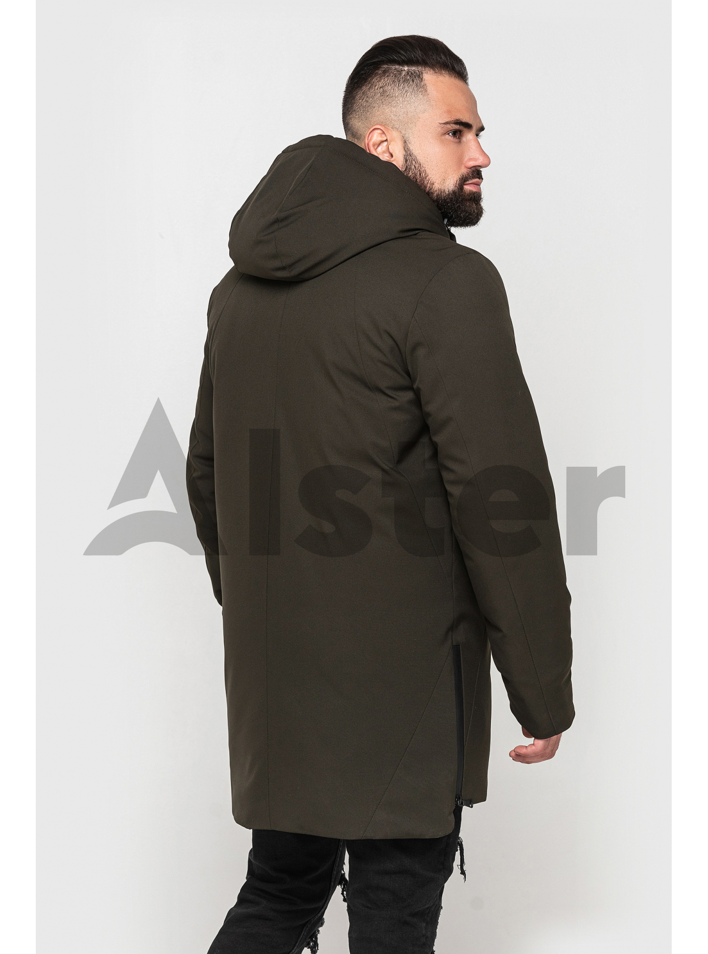 Стильна чоловіча зимова куртка Оливковий 52 (02-MT21023): фото - Alster.ua