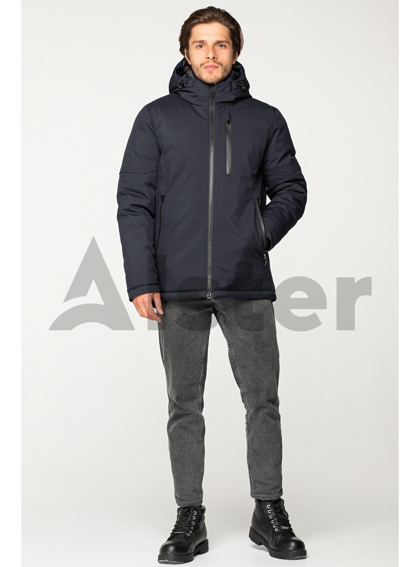 Куртка зимняя мужская стильная Тёмно-синий 46 (02-MT19351): фото - Alster.ua