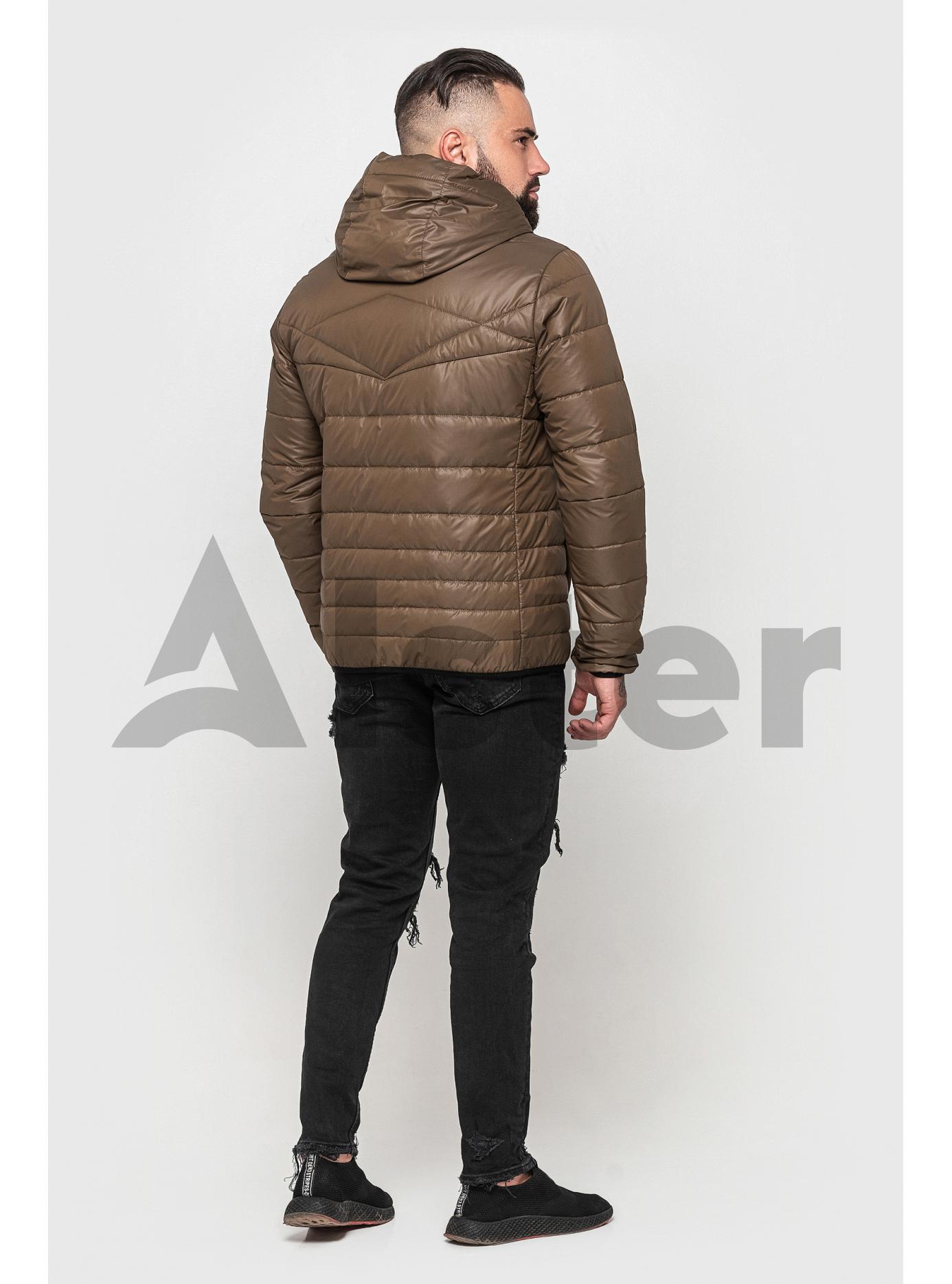 Куртка чоловіча з капюшоном Світло-коричневий 56 (02-MT21063): фото - Alster.ua
