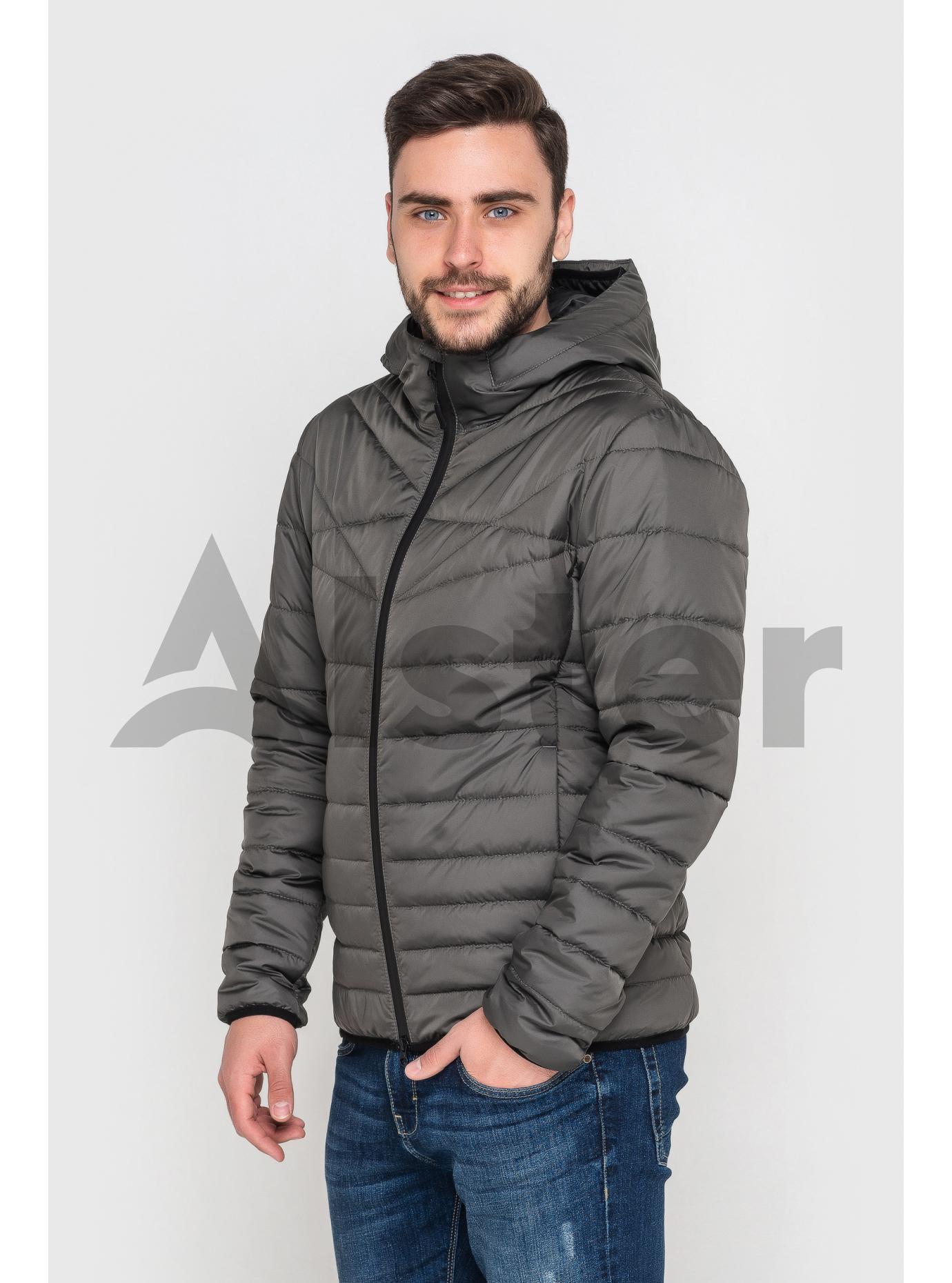 Куртка чоловіча з капюшоном Графітовий 46 (02-MT21050): фото - Alster.ua