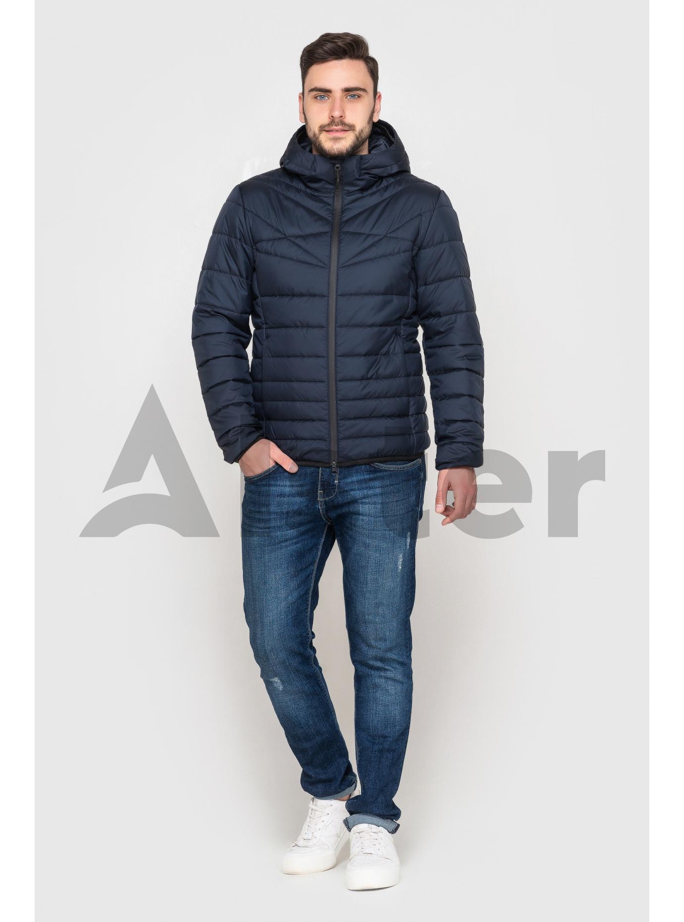Куртка чоловіча з капюшоном Темно-синій 58 (02-MT21040): фото - Alster.ua