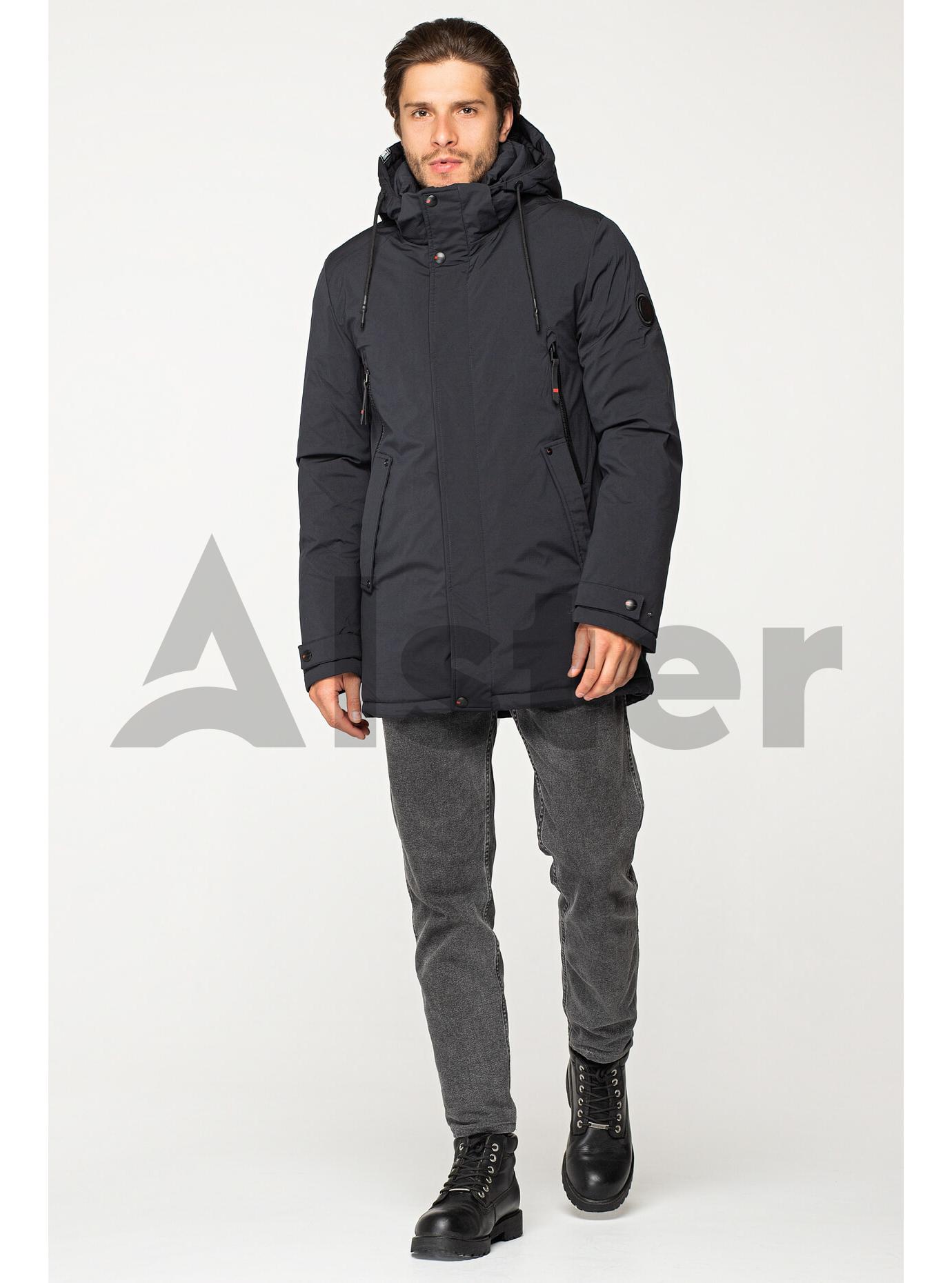 Мужская зимняя куртка с капюшоном Серый 48 (02-MM1926): фото - Alster.ua