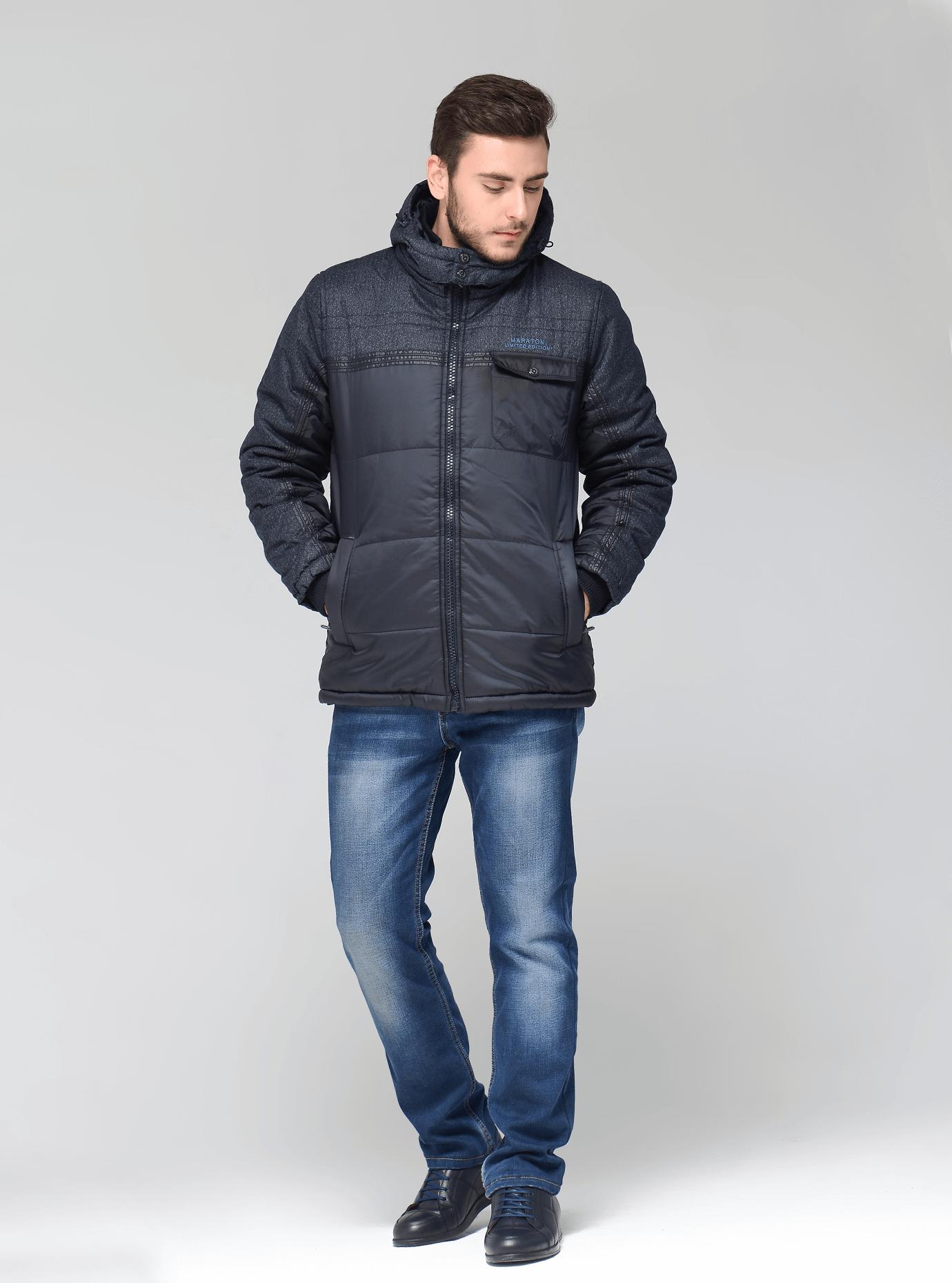 Зимняя мужская куртка Синий S (01-RR17034): фото - Alster.ua