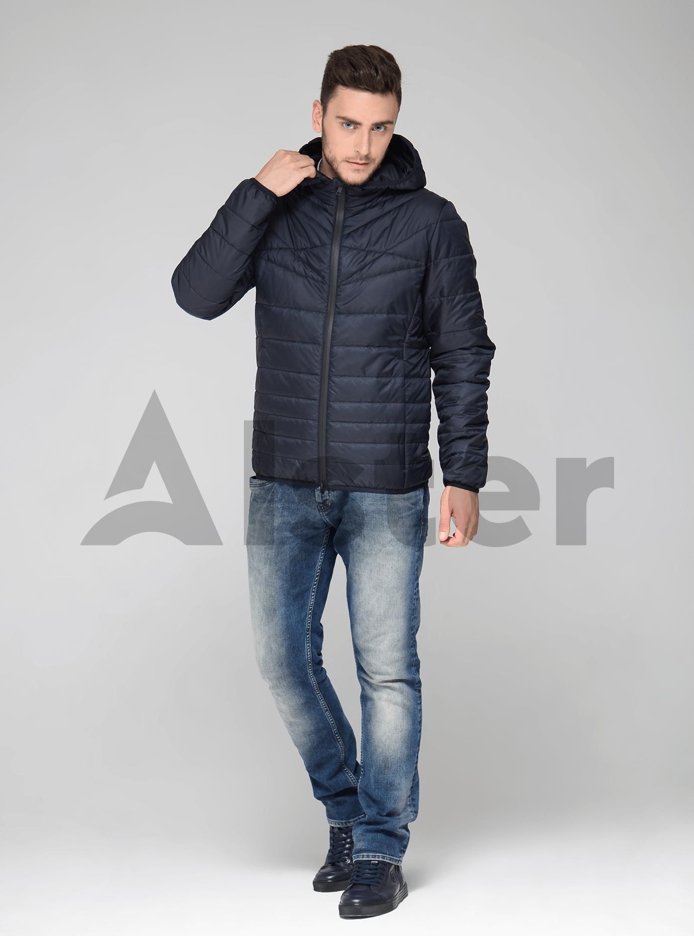 Мужская демисезонная куртка Синий 48 (02-KT190552): фото - Alster.ua