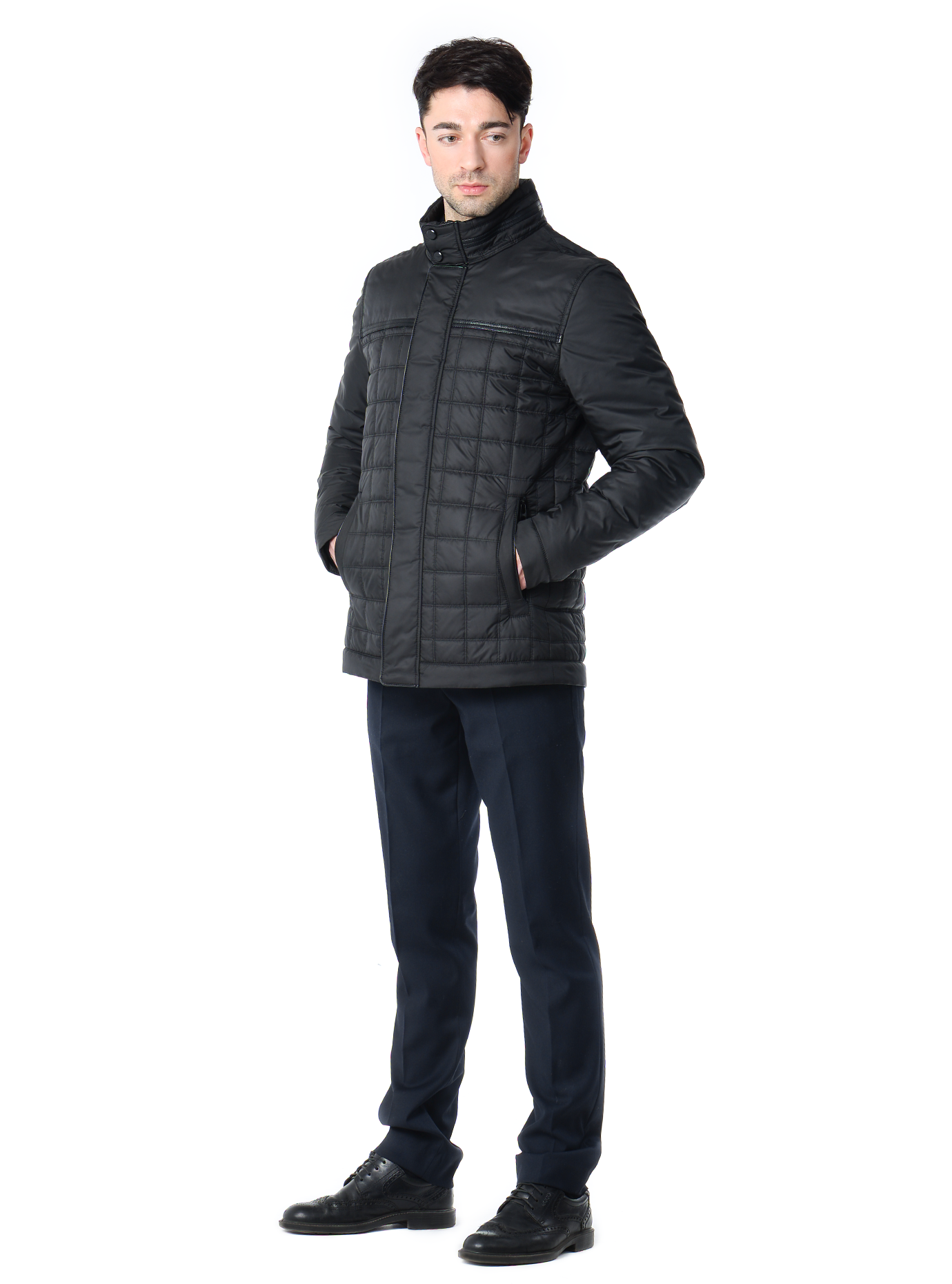 Куртка мужская демисезонная карманы на молнии Чёрный 46 (02-MT19327): фото - Alster.ua