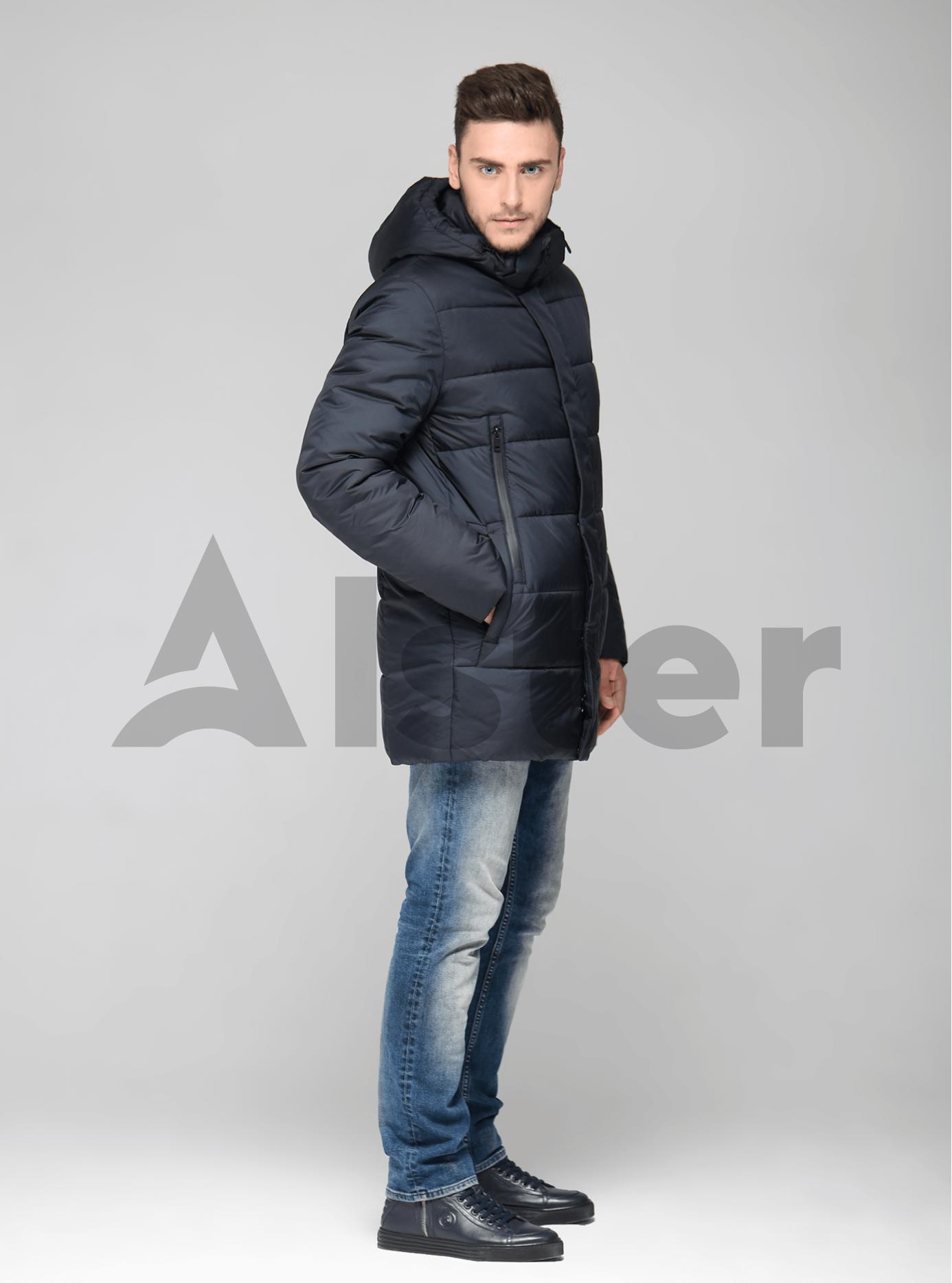 Мужская куртка зимняя с капюшоном Тёмно-синий 46 (02-MT19261): фото - Alster.ua