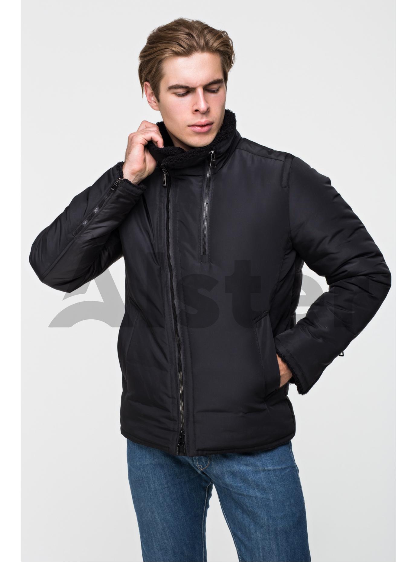 Куртка чоловіча зимова на блискавці Т-275 Чорний 46 (02-MT21066): фото - Alster.ua