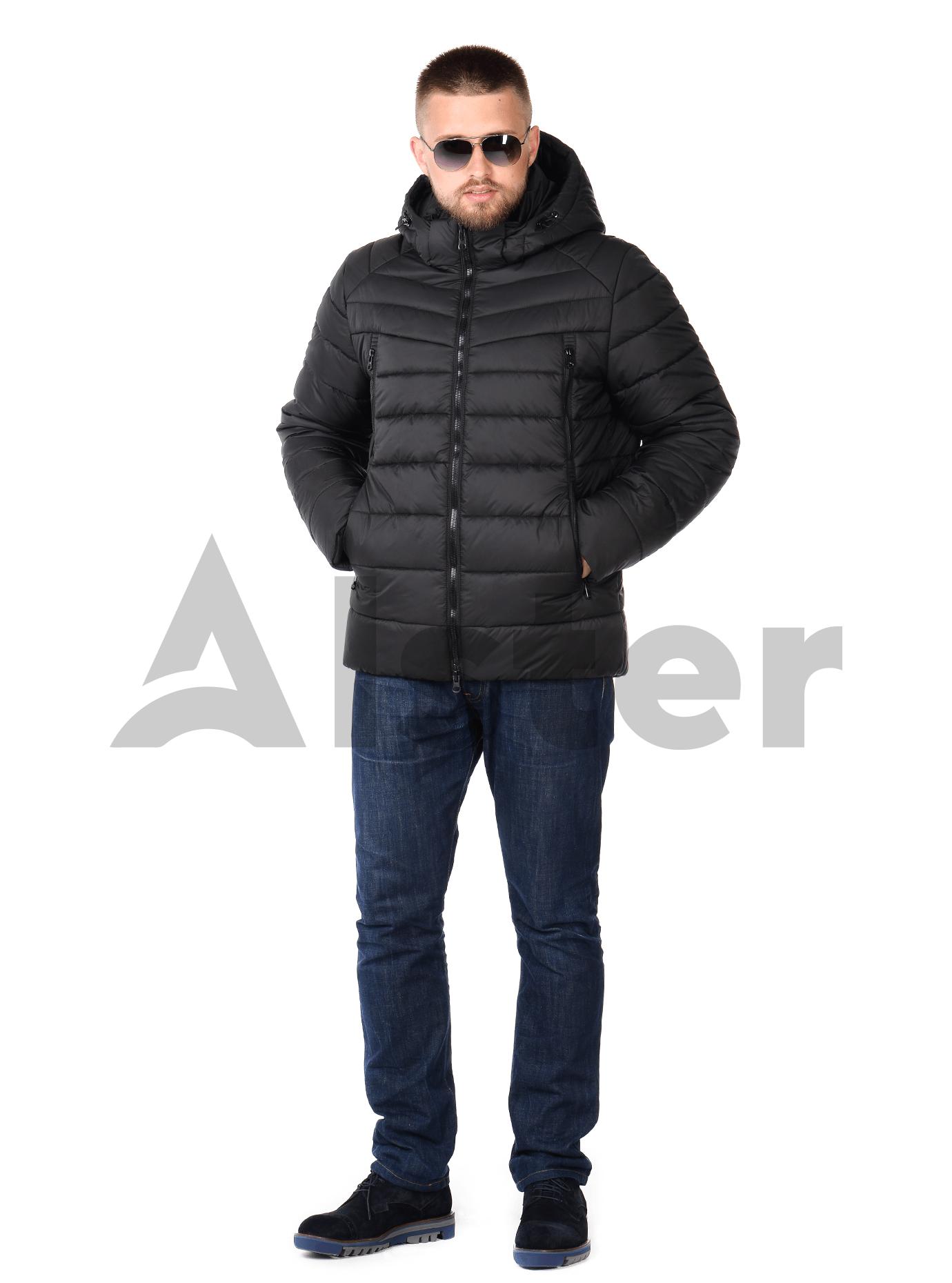 Куртка мужская зимняя на молнии Чёрный 48 (02-MT19184): фото - Alster.ua