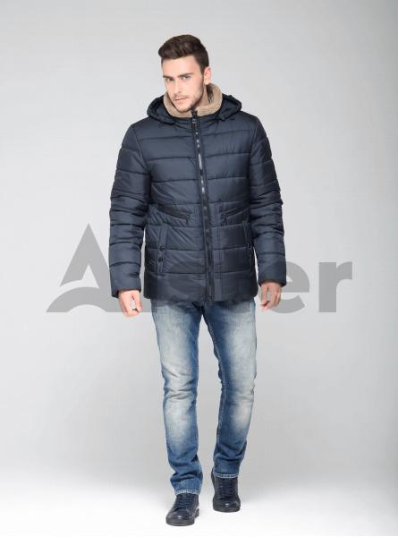 Зимова чоловіча куртка з кишенями