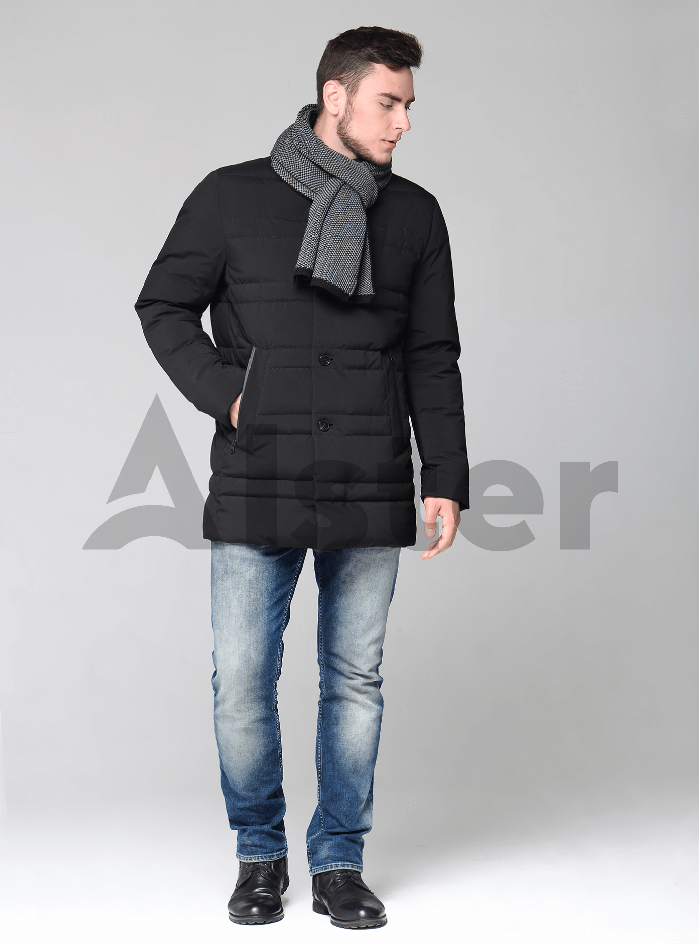 Зимний мужской пуховик Синий 46 (02-MC19039): фото - Alster.ua