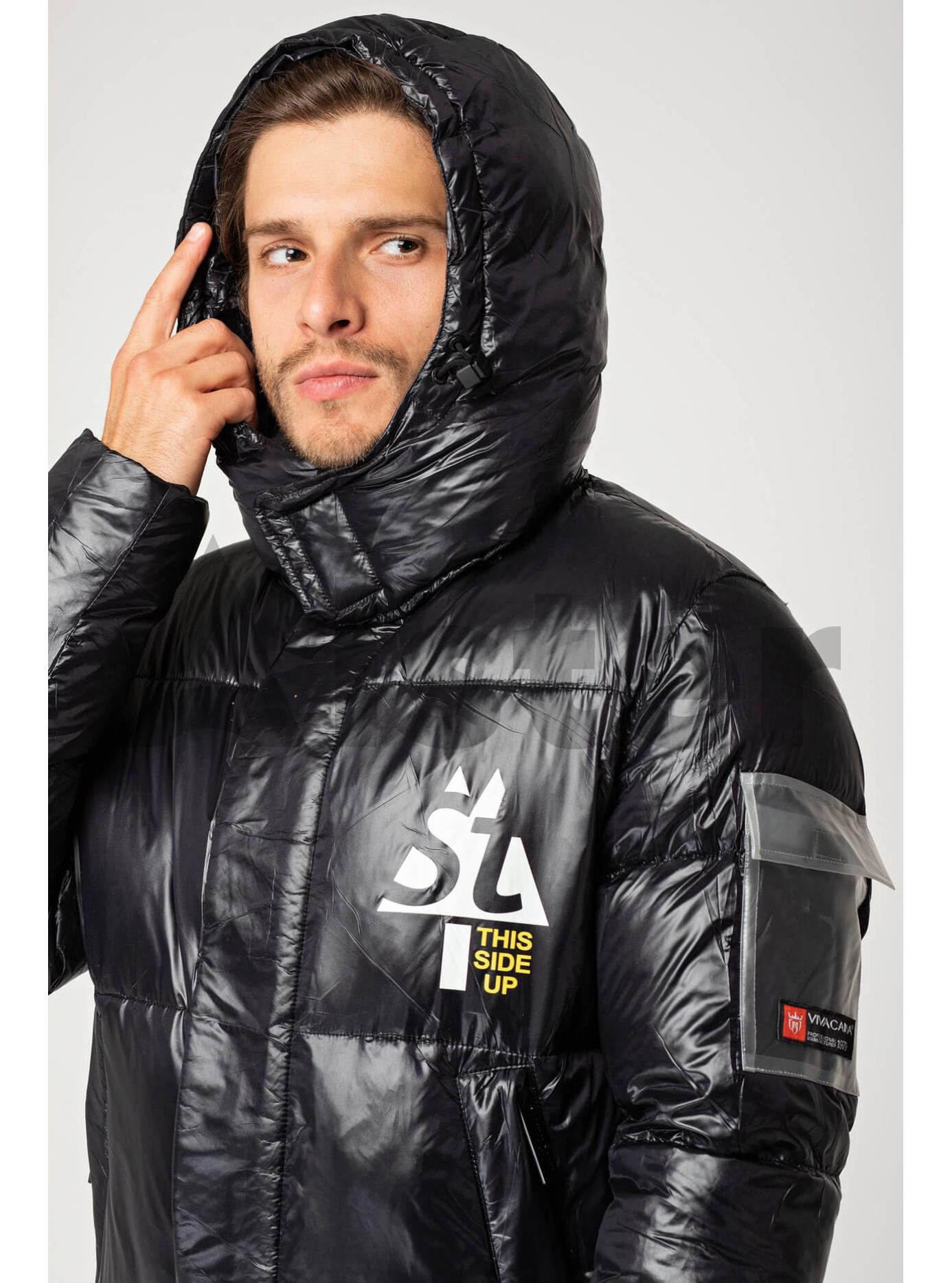 Мужская зимняя куртка с капюшоном Чёрный S (02-MV1917): фото - Alster.ua
